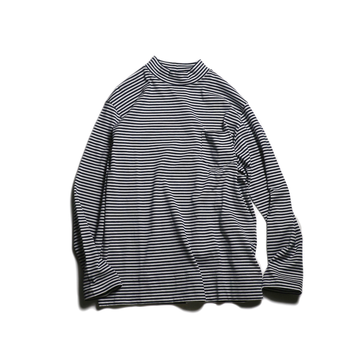 TOWN CRAFT / seattle border h-neck tee (Navy)