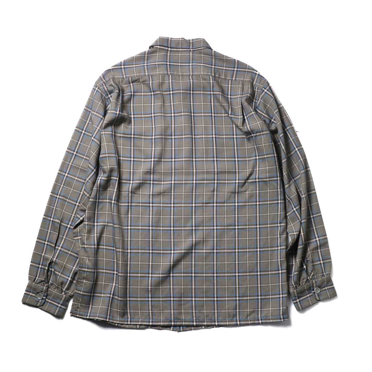 TOWN CRAFT / CLASSIC CHECK OPEN SHIRTS (Gray)背面