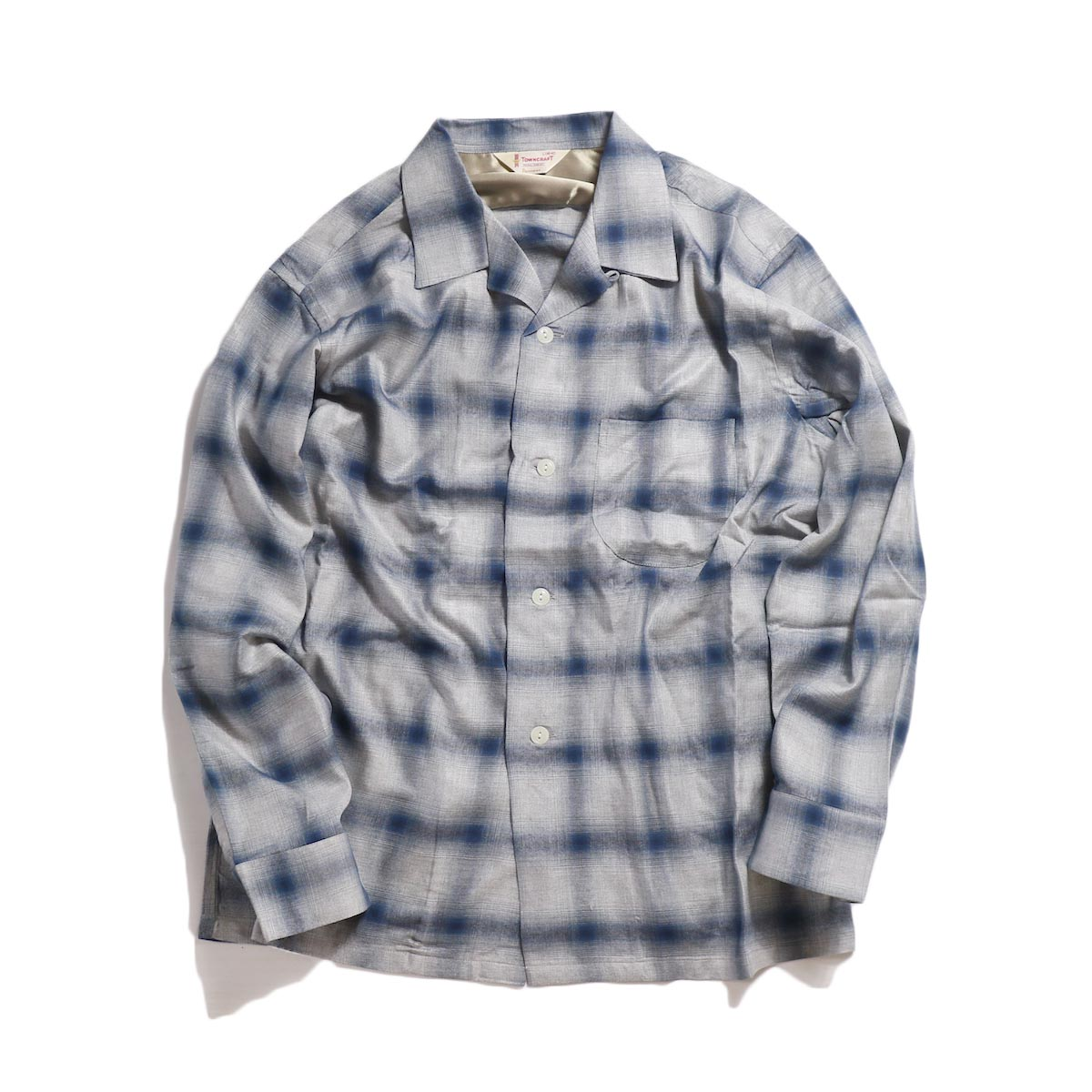 TOWN CRAFT / OMBLE OPEN SHIRTS -Navy