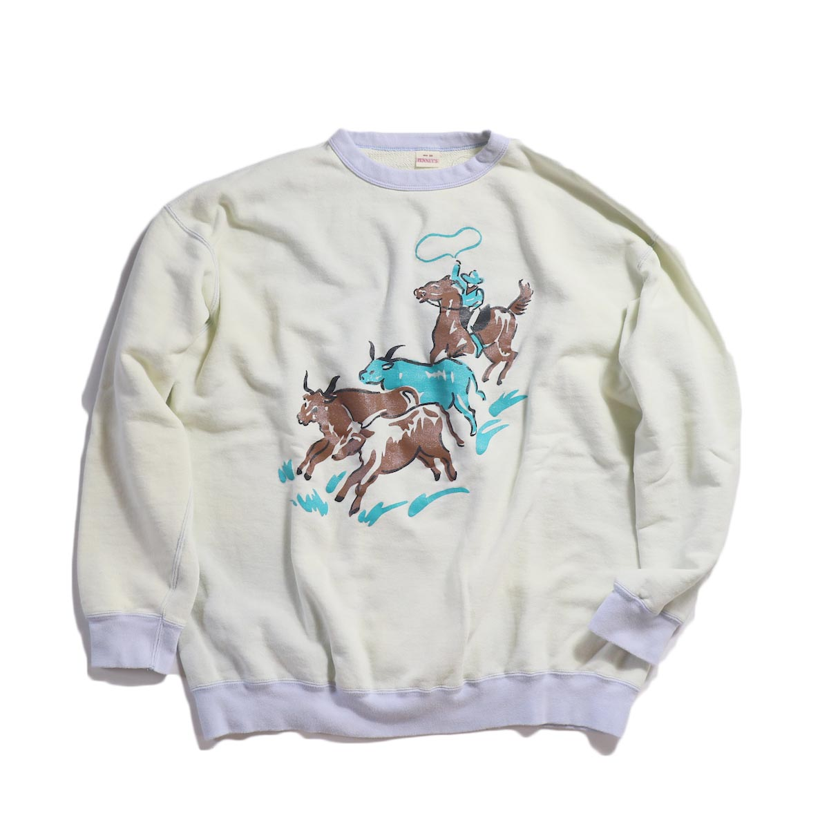 PENNY'S /  60S 'RANCHER'CREW SWEAT -Sax