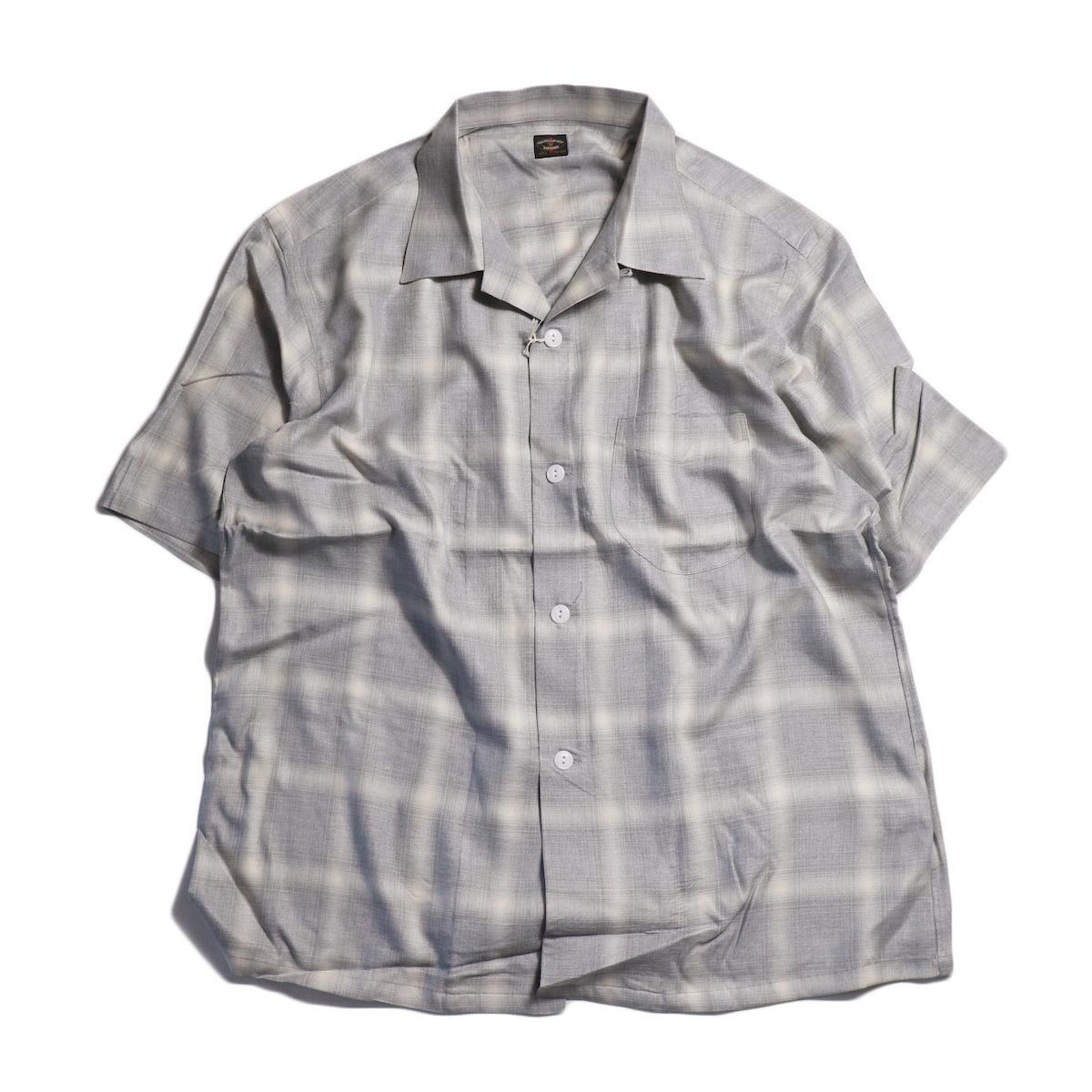 TOWN CRAFT / OMBLE OPEN S/S SHIRTS -Gray