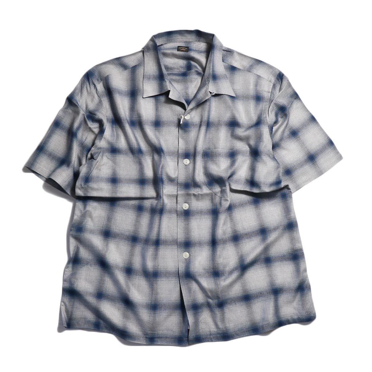 TOWN CRAFT / OMBLE OPEN S/S SHIRTS -Navy
