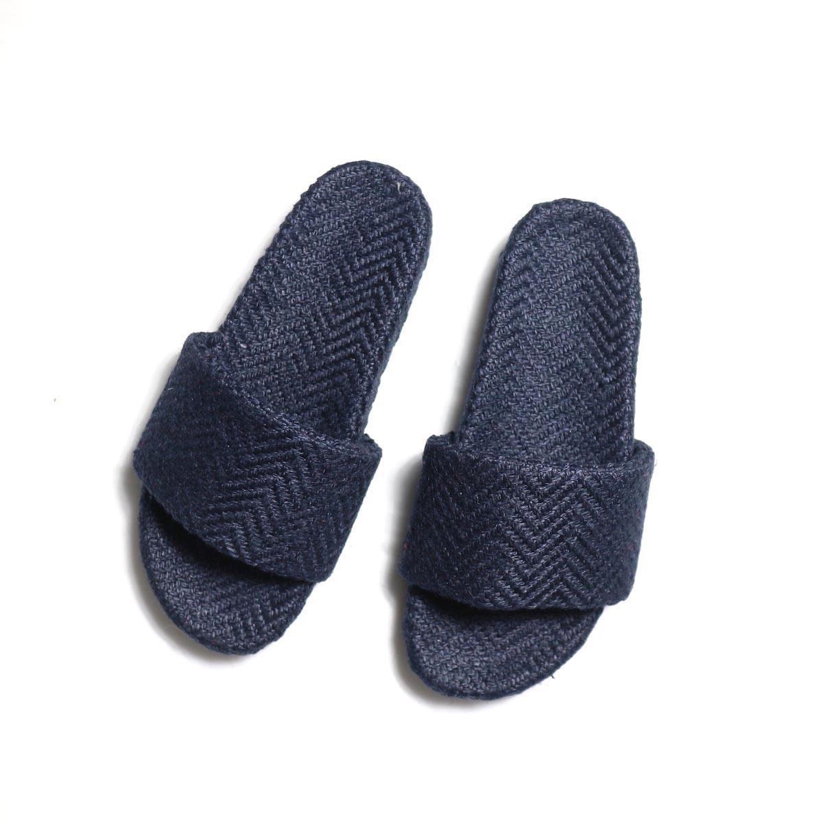 TREADs / Slide Sandal - JUTE (NAVY)