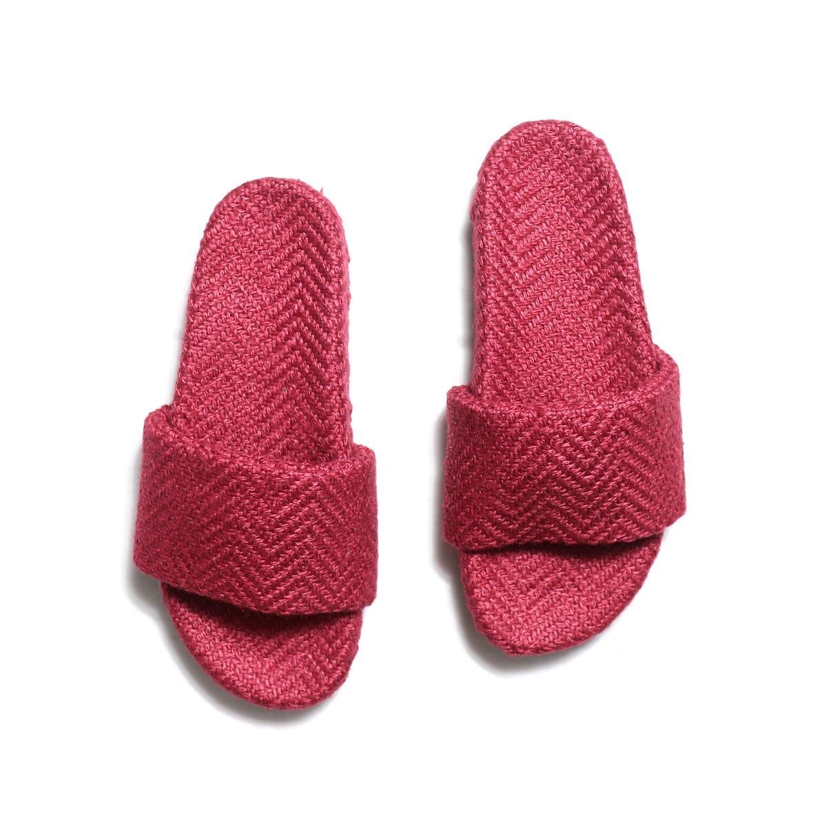 TREADs / Slide Sandal - JUTE (RED)