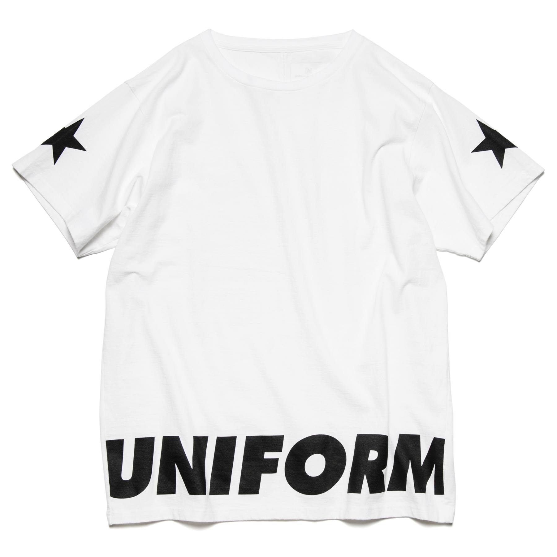 uniform experiment / SLEEVE STAR BIG TEE -white