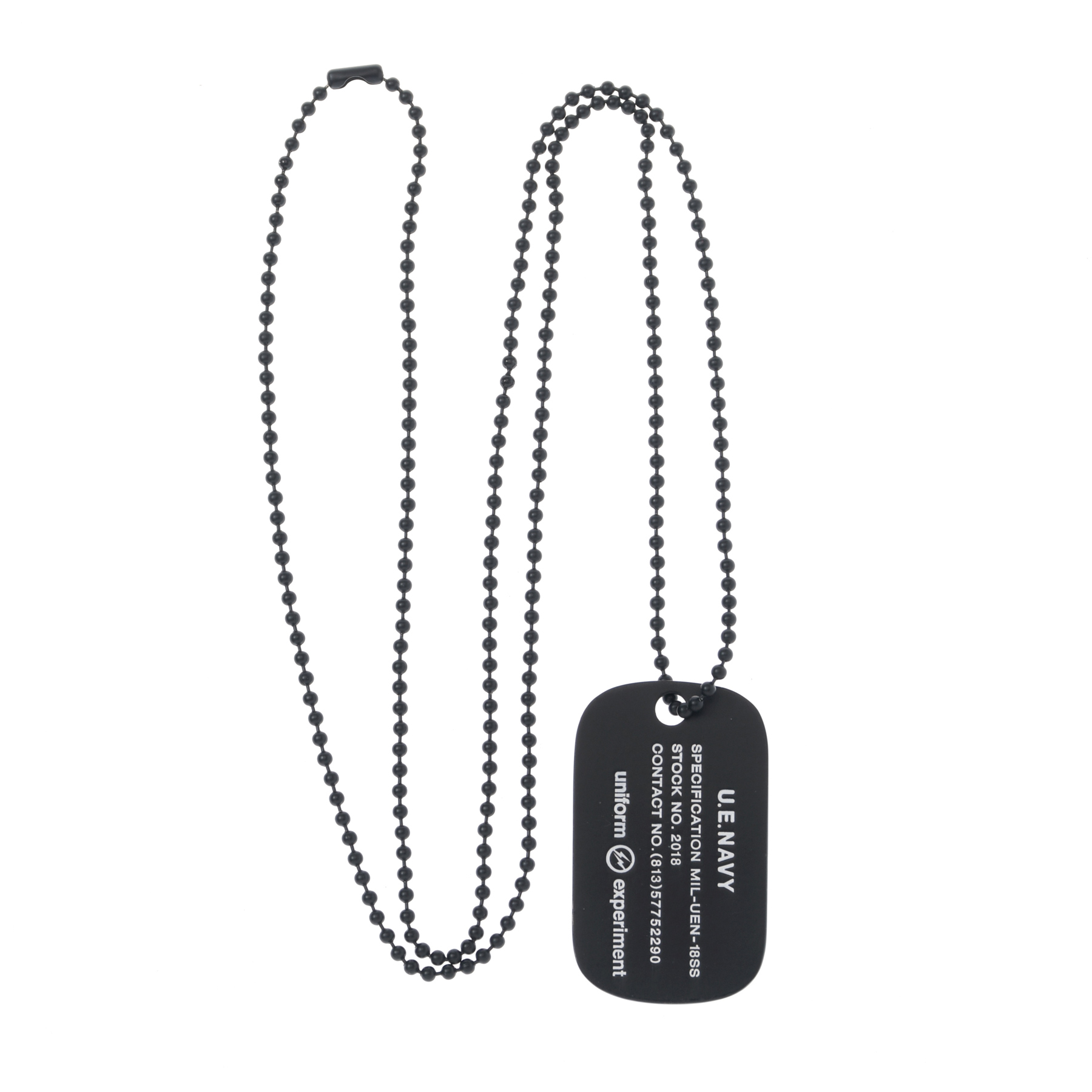 uniform experiment / UE NAVY DOG TAG NECKLACE -black