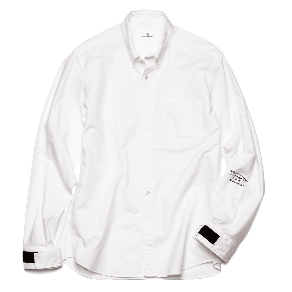 uniform experiment / VELCRO CUFF B.D SHIRT -WHITE