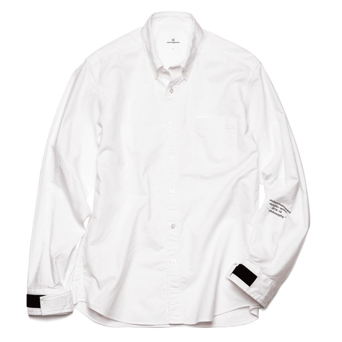 uniform experiment / VELCRO CUFF B.D SHIRT -WHITE