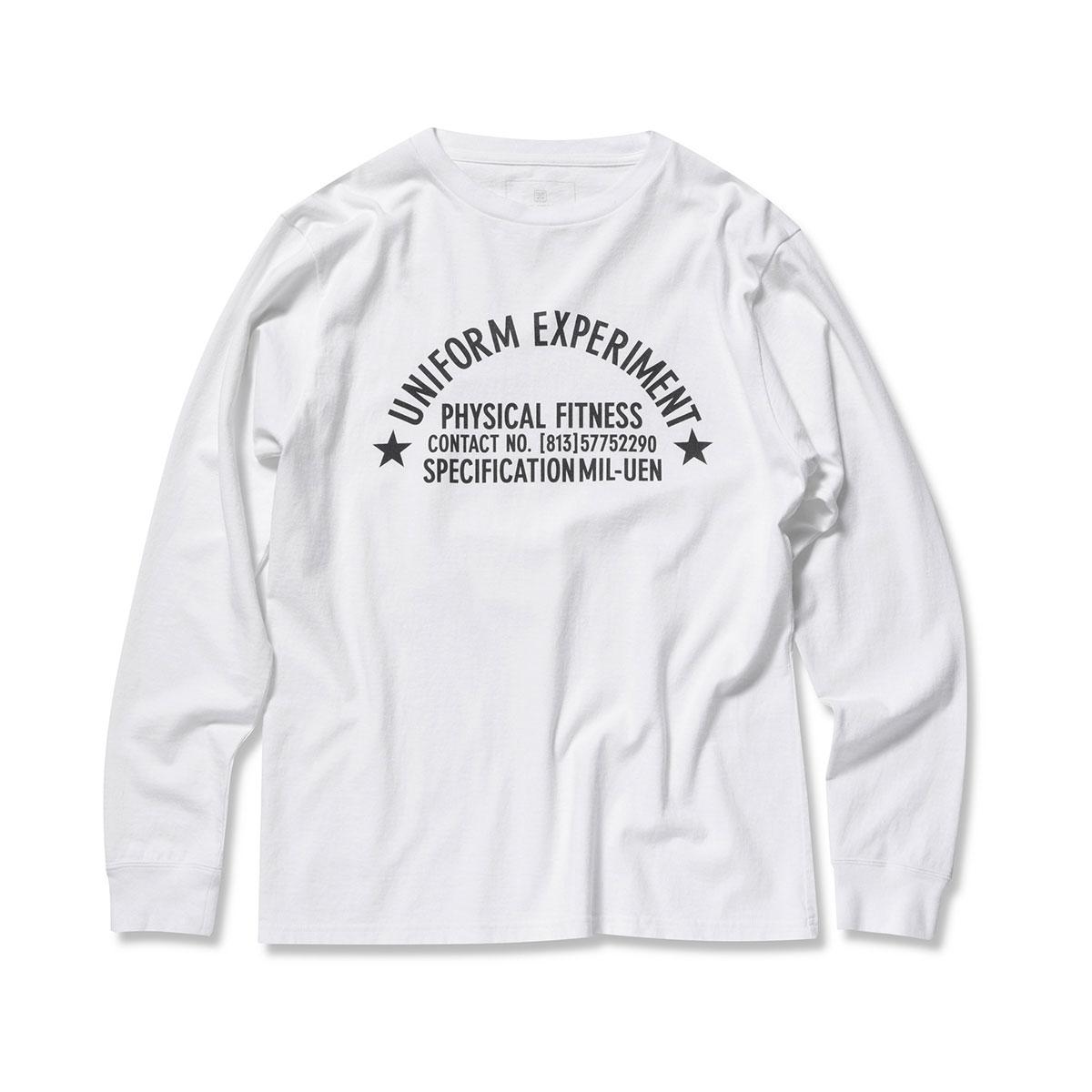 uniform experiment / UEN PHYSICAL FITNESS LONG SLEEVE TEE -WHITE