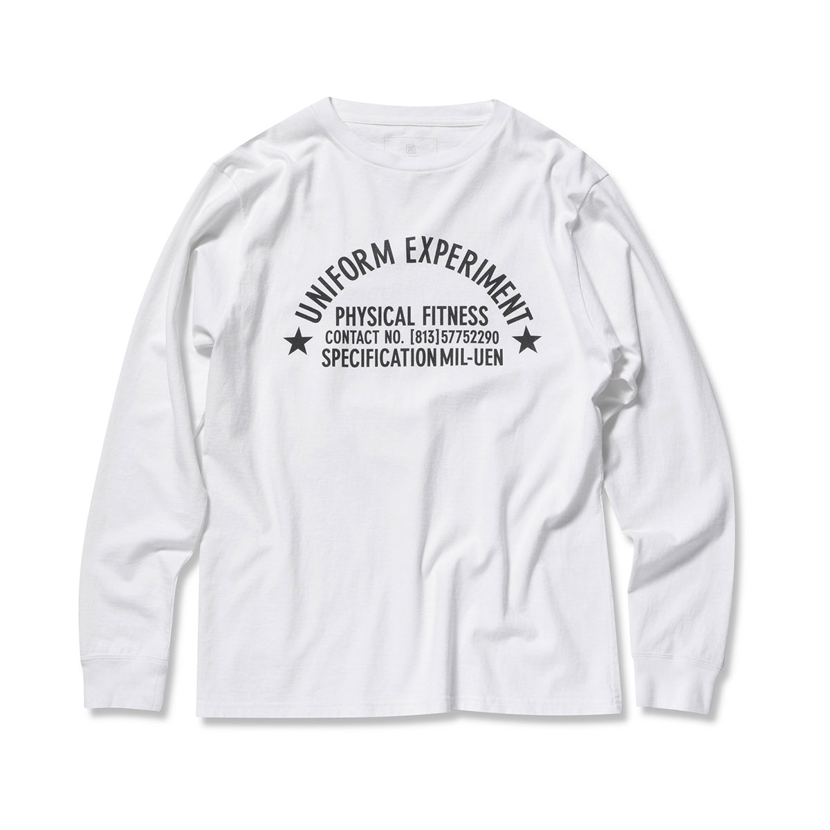 uniform experiment / UEN PHYSICAL FITNESS LONG SLEEVE TEE -WHITE