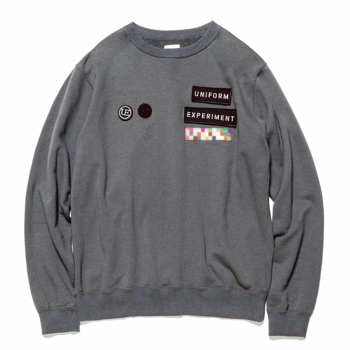 uniform experiment / WAPPEN CREW NECK SWEAT -Gray