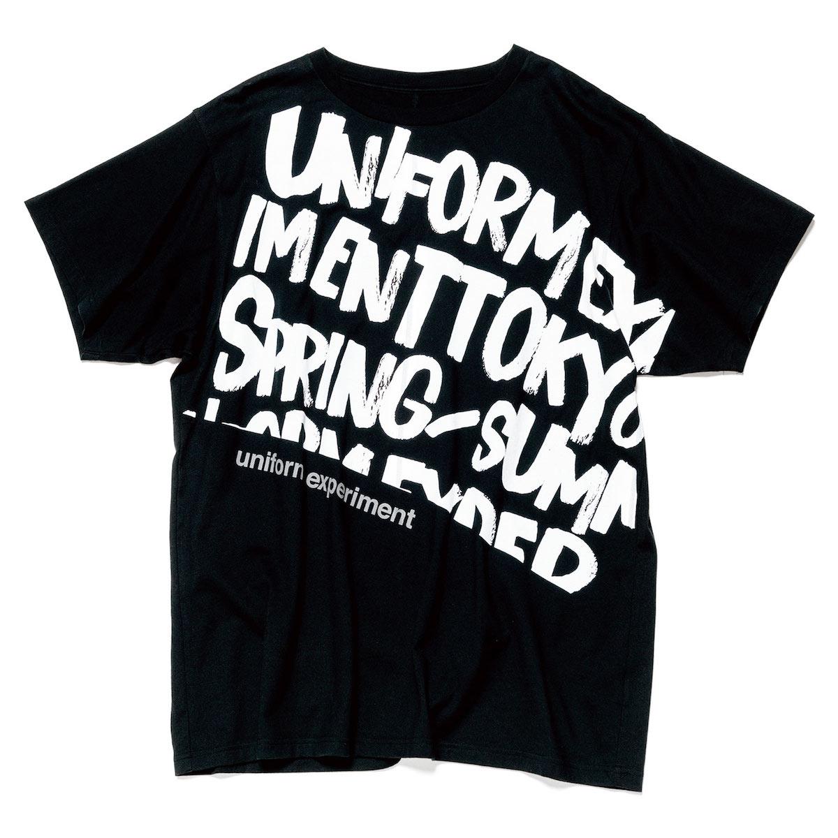 uniform experiment / GRAFFITI BIG TEE -Black
