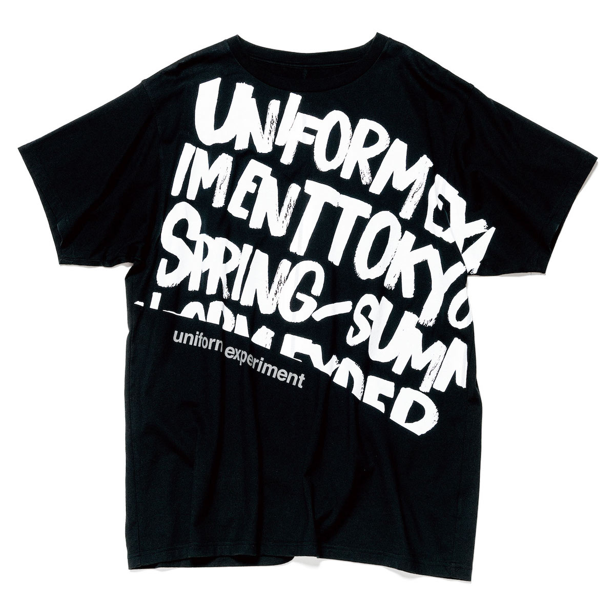uniform experiment / GRAFFITI BIG TEE -Black