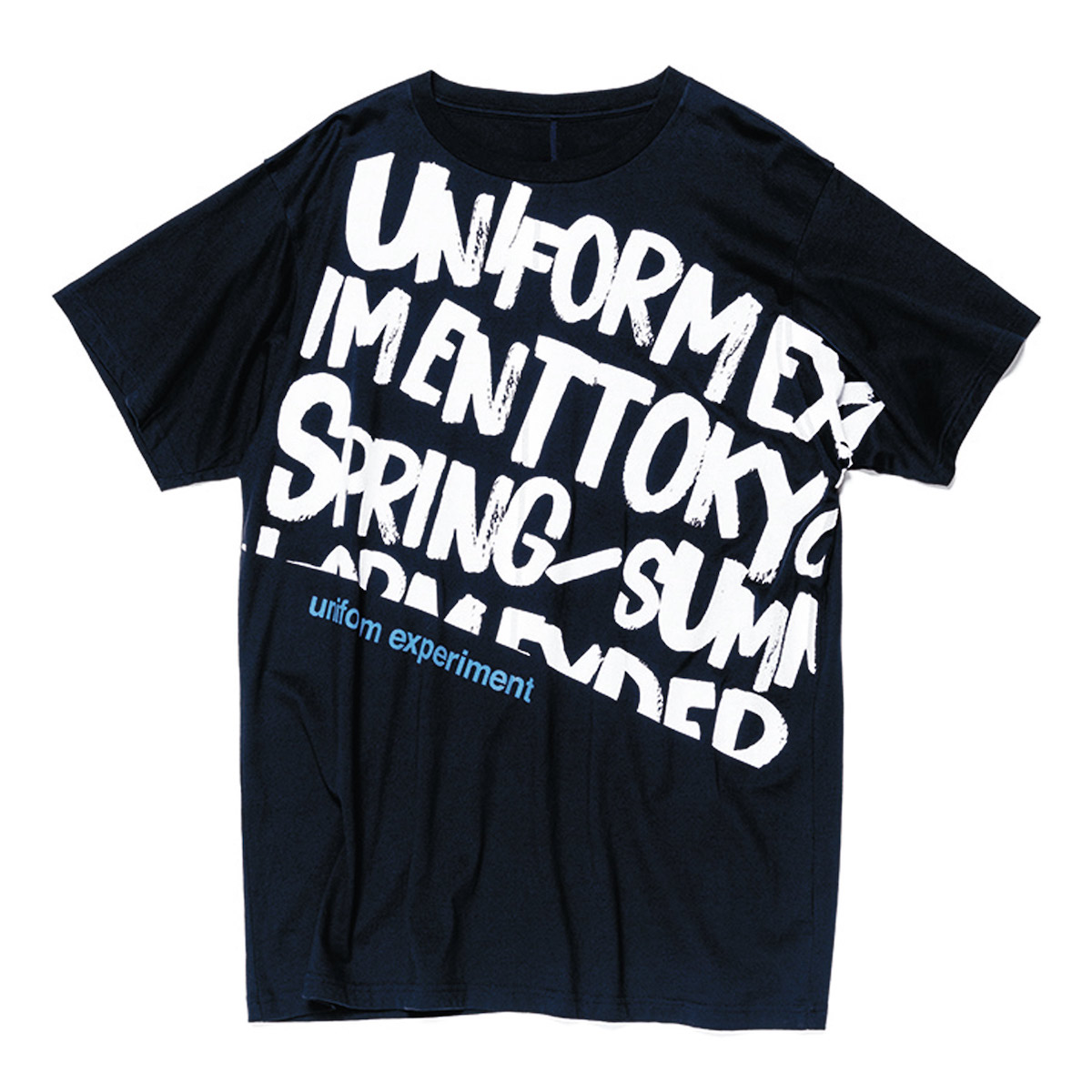 uniform experiment / GRAFFITI BIG TEE -navy