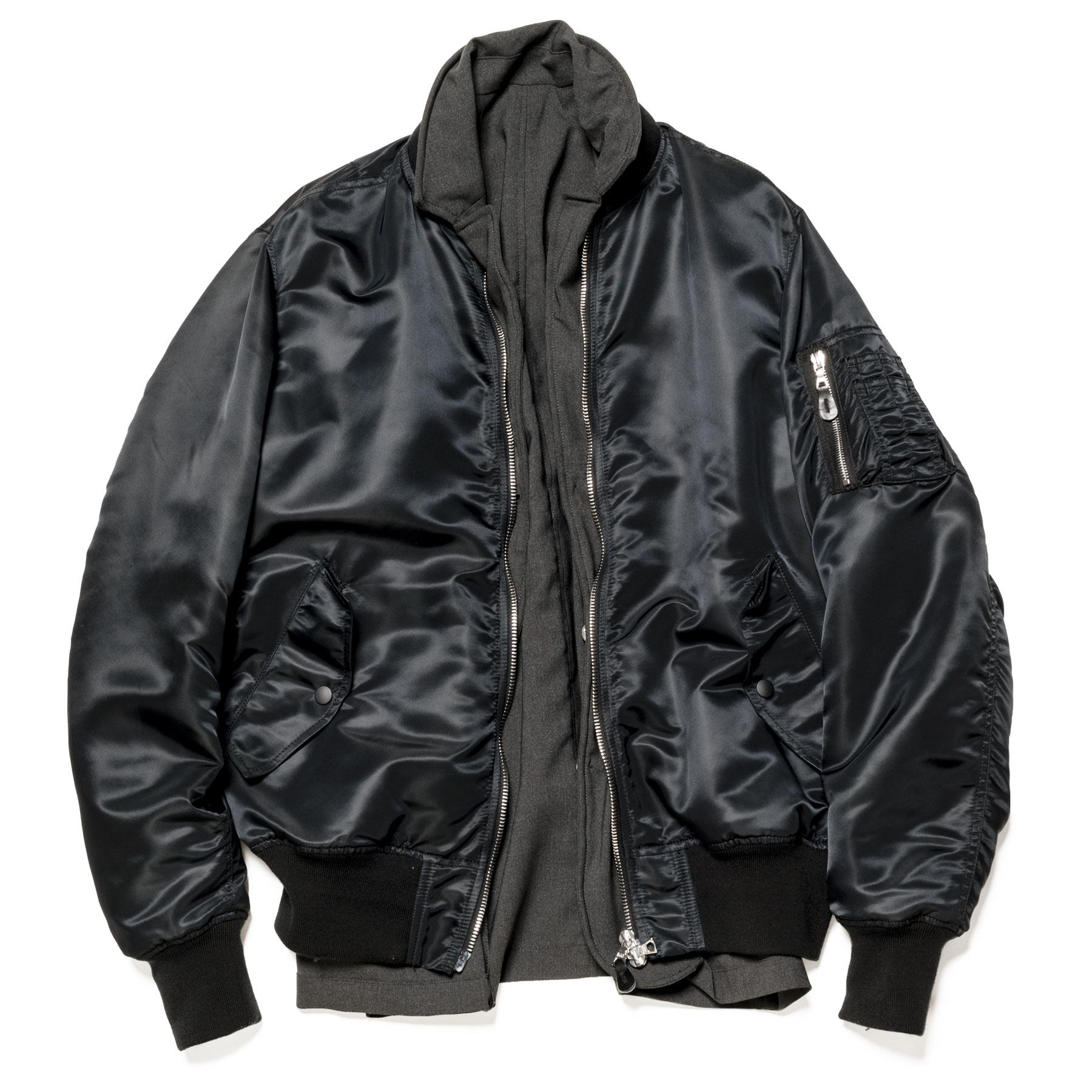 uniform experiment / REVERSIBLE MA-1 -Black