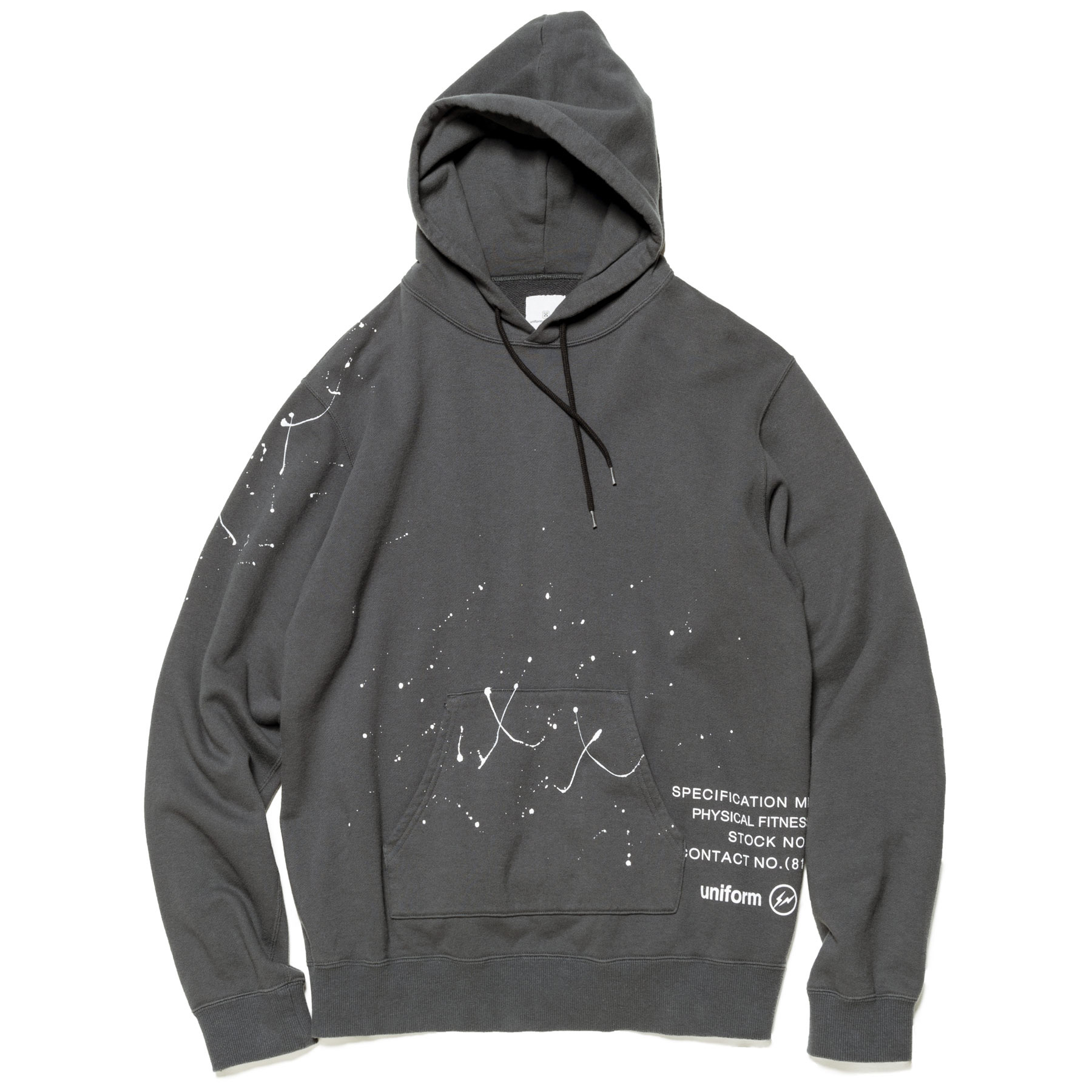 uniform experiment / DRIPPING HOODIE -Gray