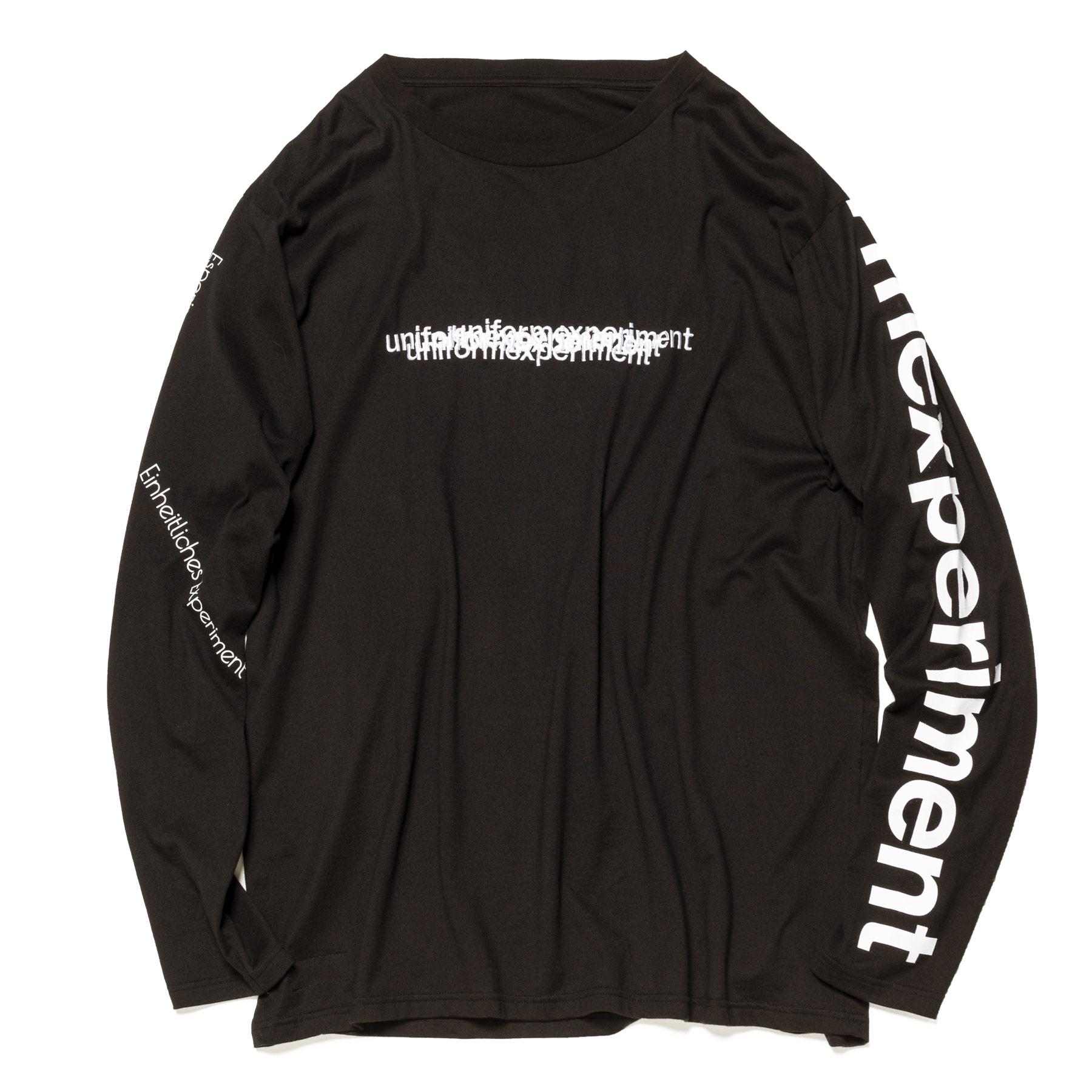 uniform experiment / L/S REVERSIBLE BIG TEE -Black