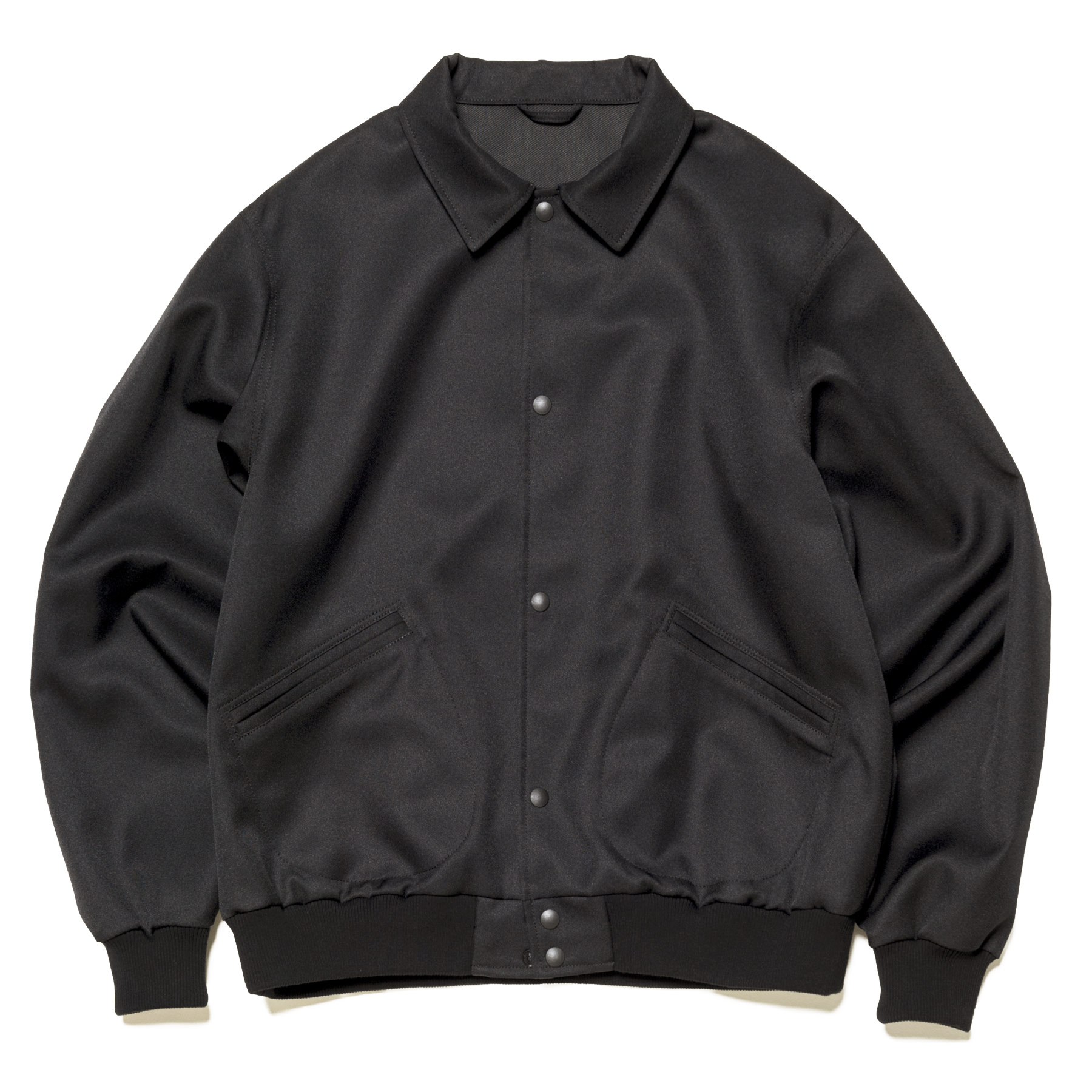 uniform experiment / RIB COLLAR BLOUSON -Black