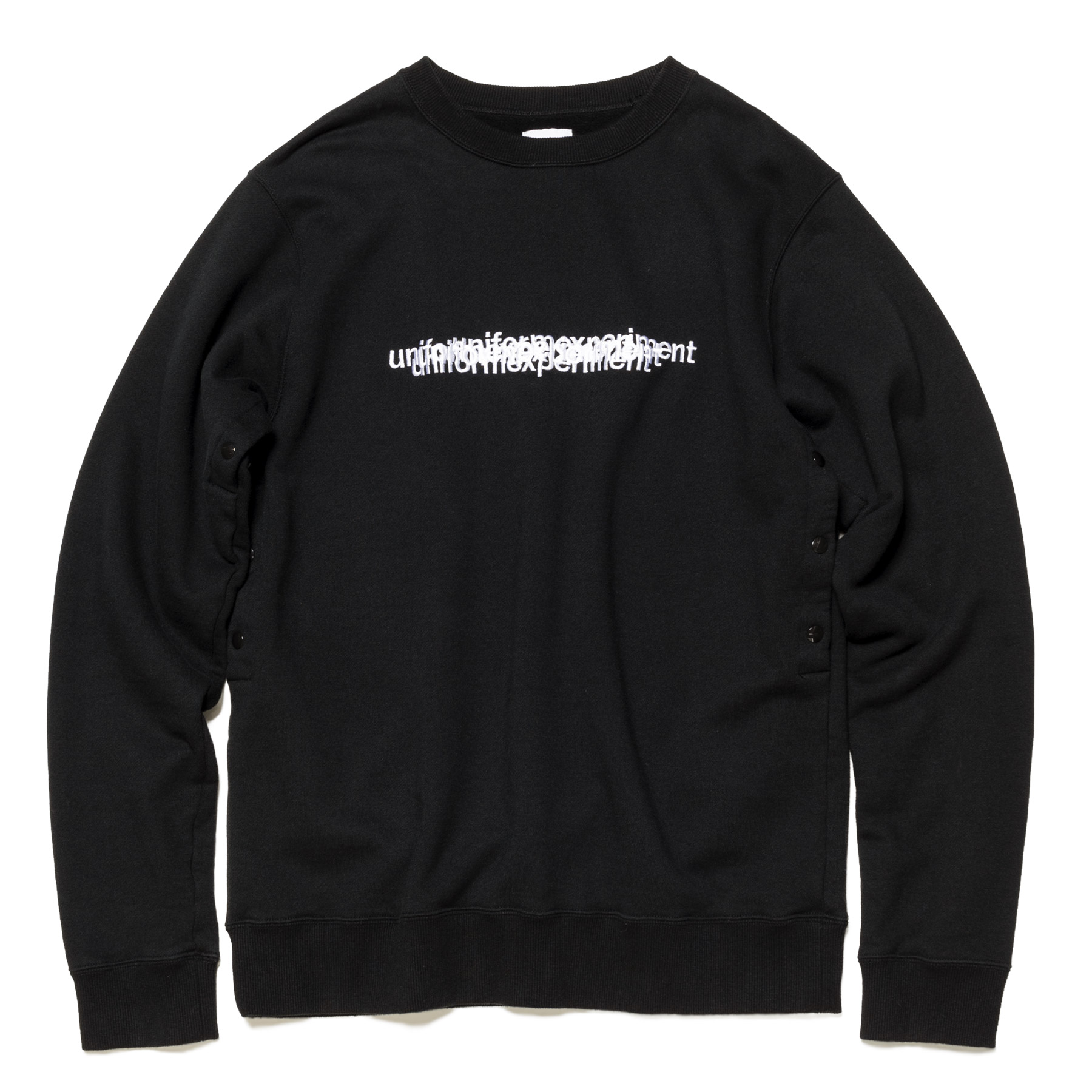 uniform experiment / VENTILATION CREW NECK SWEAT -Black