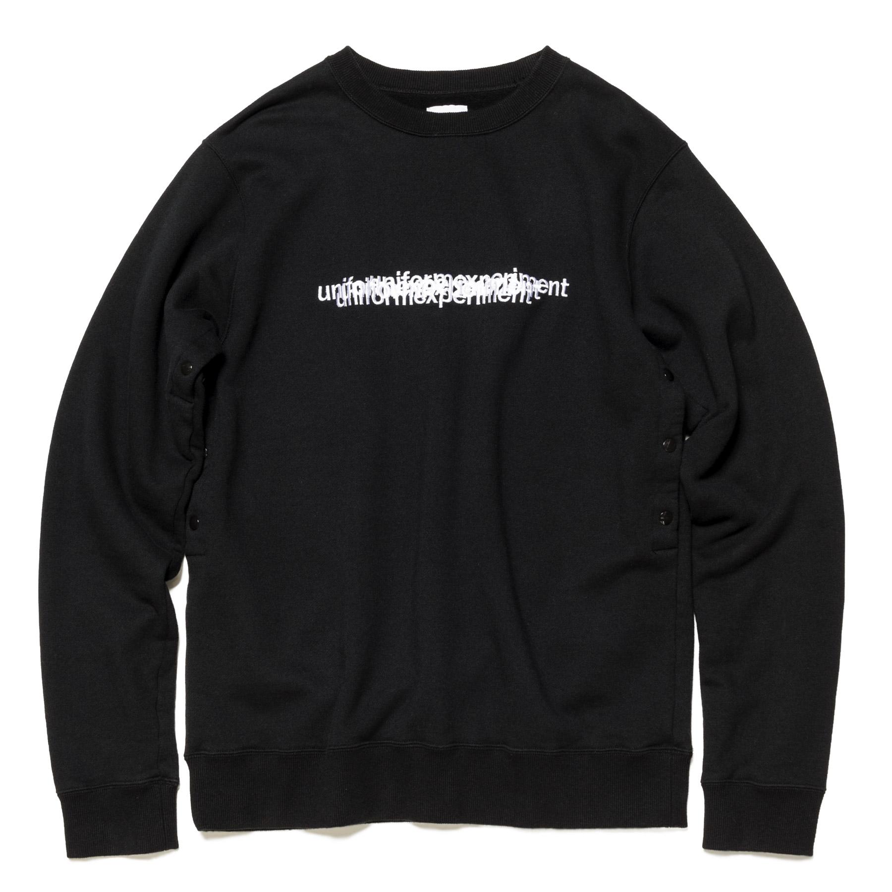 uniform experiment / VENTILATION CREW NECK SWEAT -Black