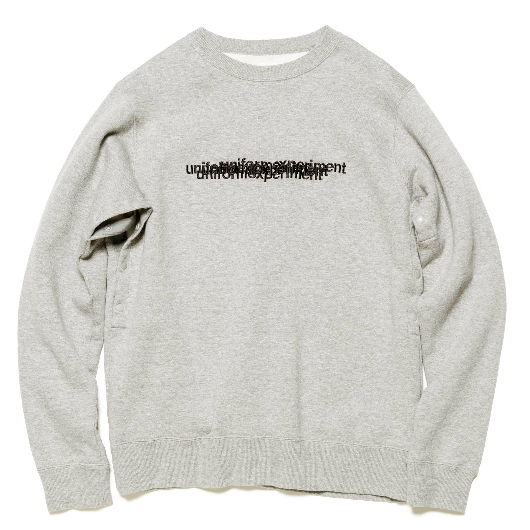 uniform experiment / VENTILATION CREW NECK SWEAT -Gray