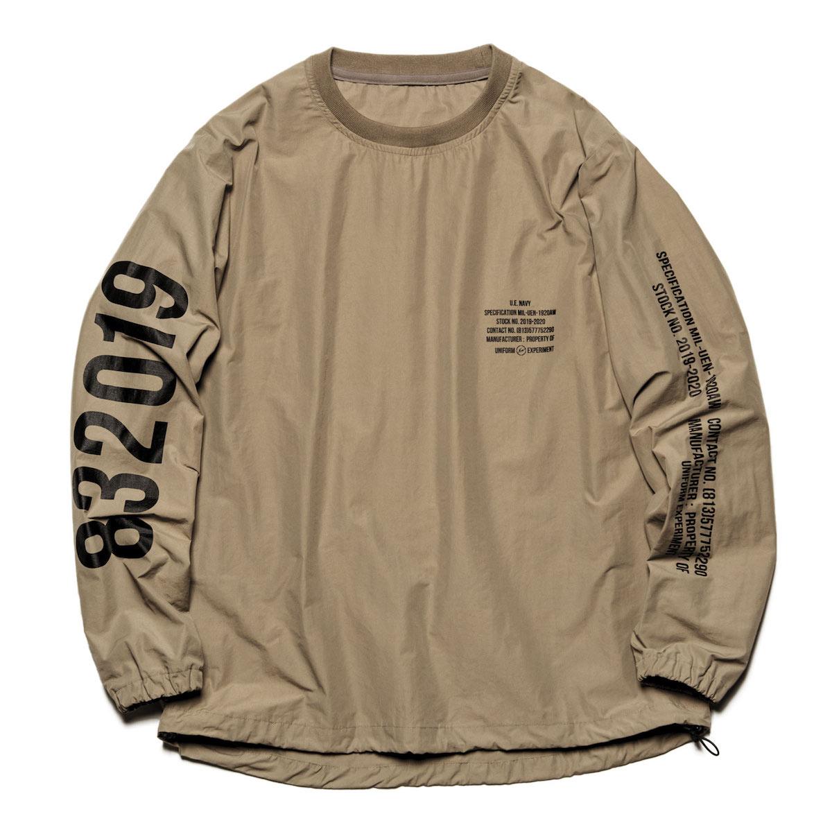 uniform experiment / PULLOVER SMOCK -Beige