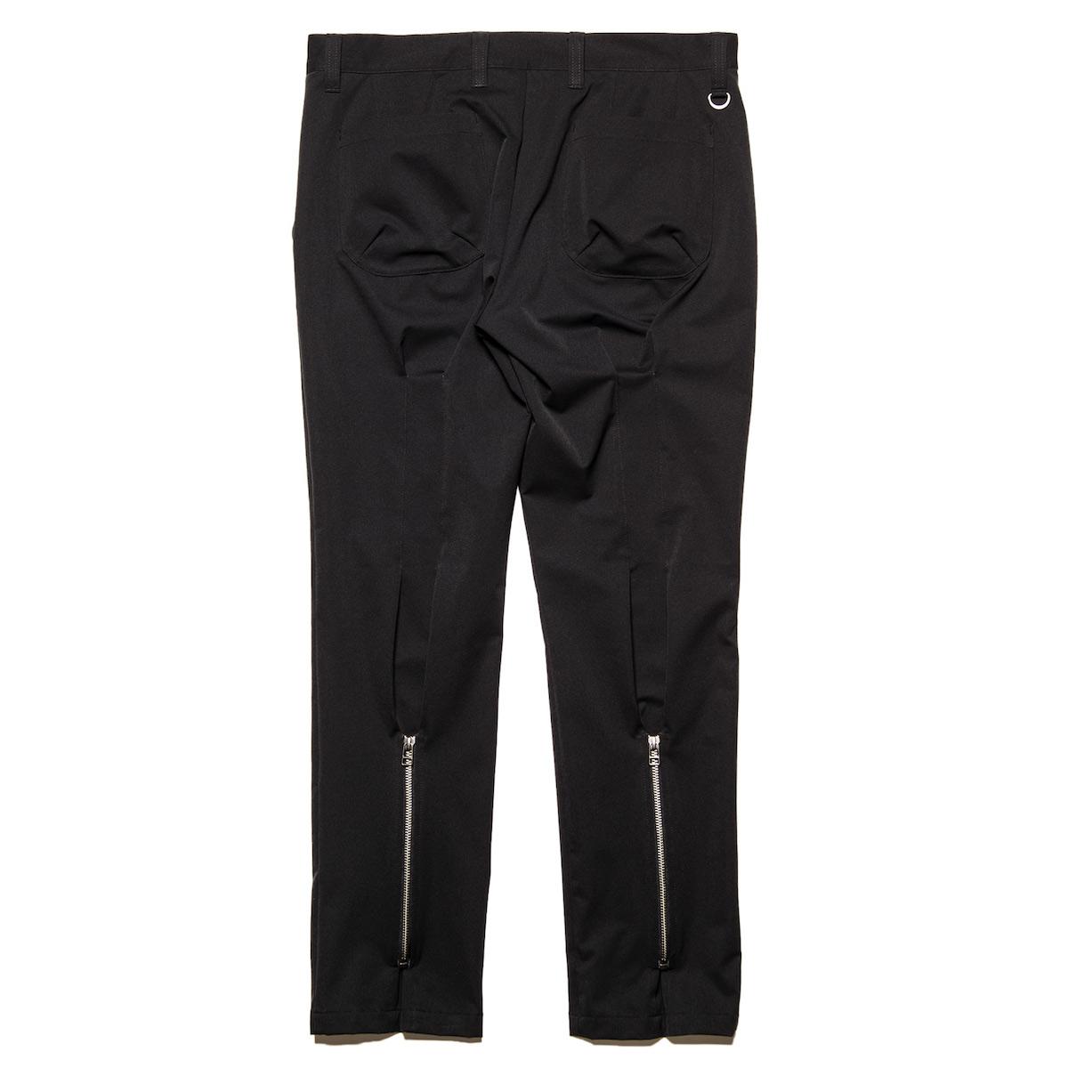 uniform experiment / BACK ZIP PANTS -Black