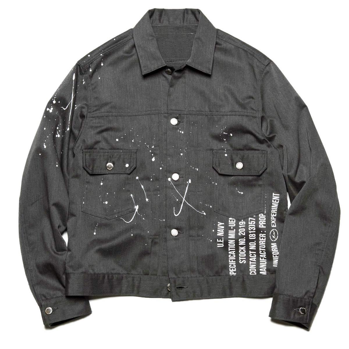 uniform experiment / PAINTED SHORT BLOUSON -Charcoal Gray