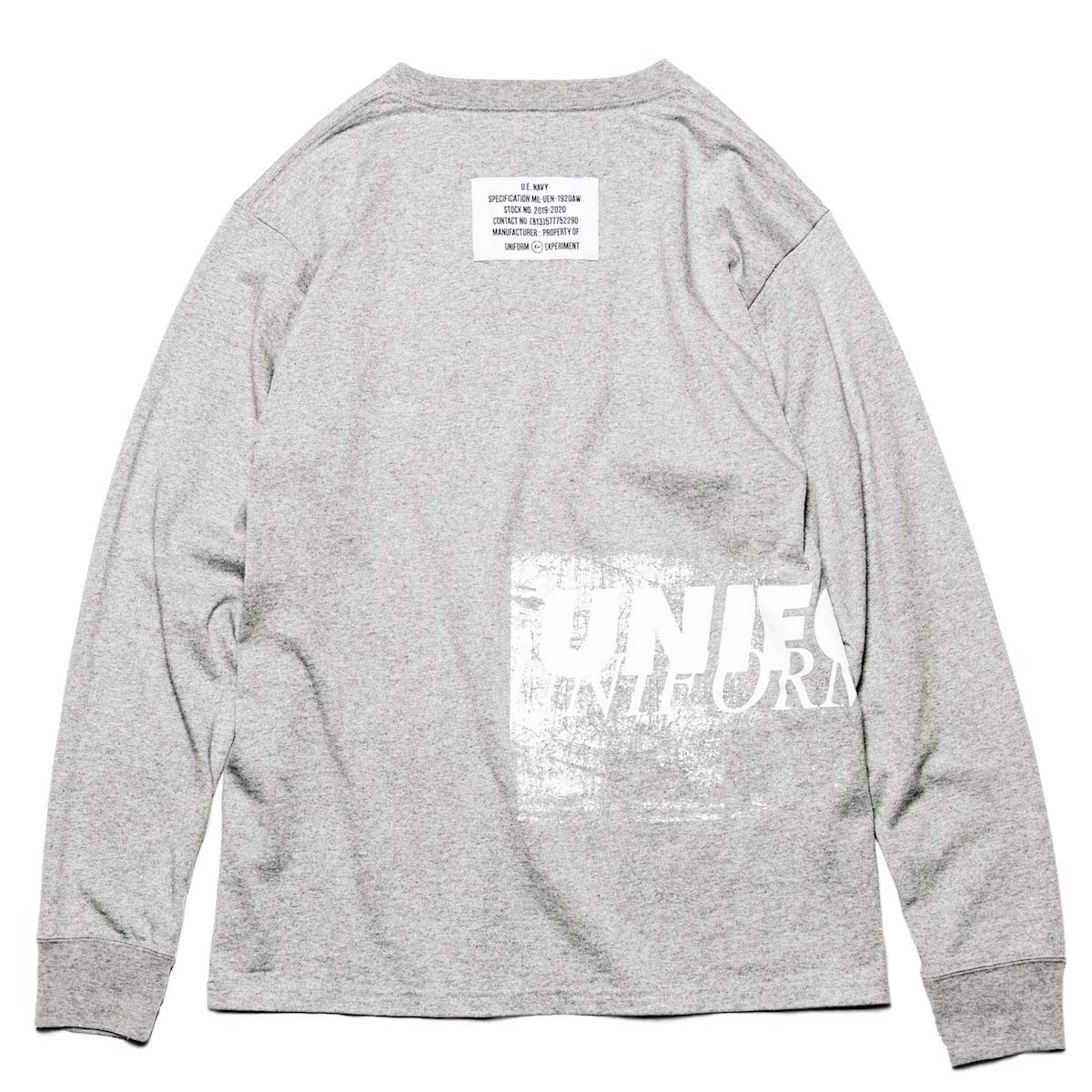 uniform experiment / GRAFFITI LONG SLEEVE TEE -Gray