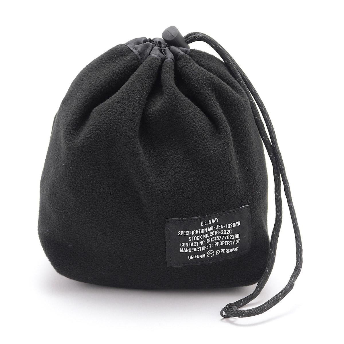 uniform experiment / UEN FLEECE POUCH -Black