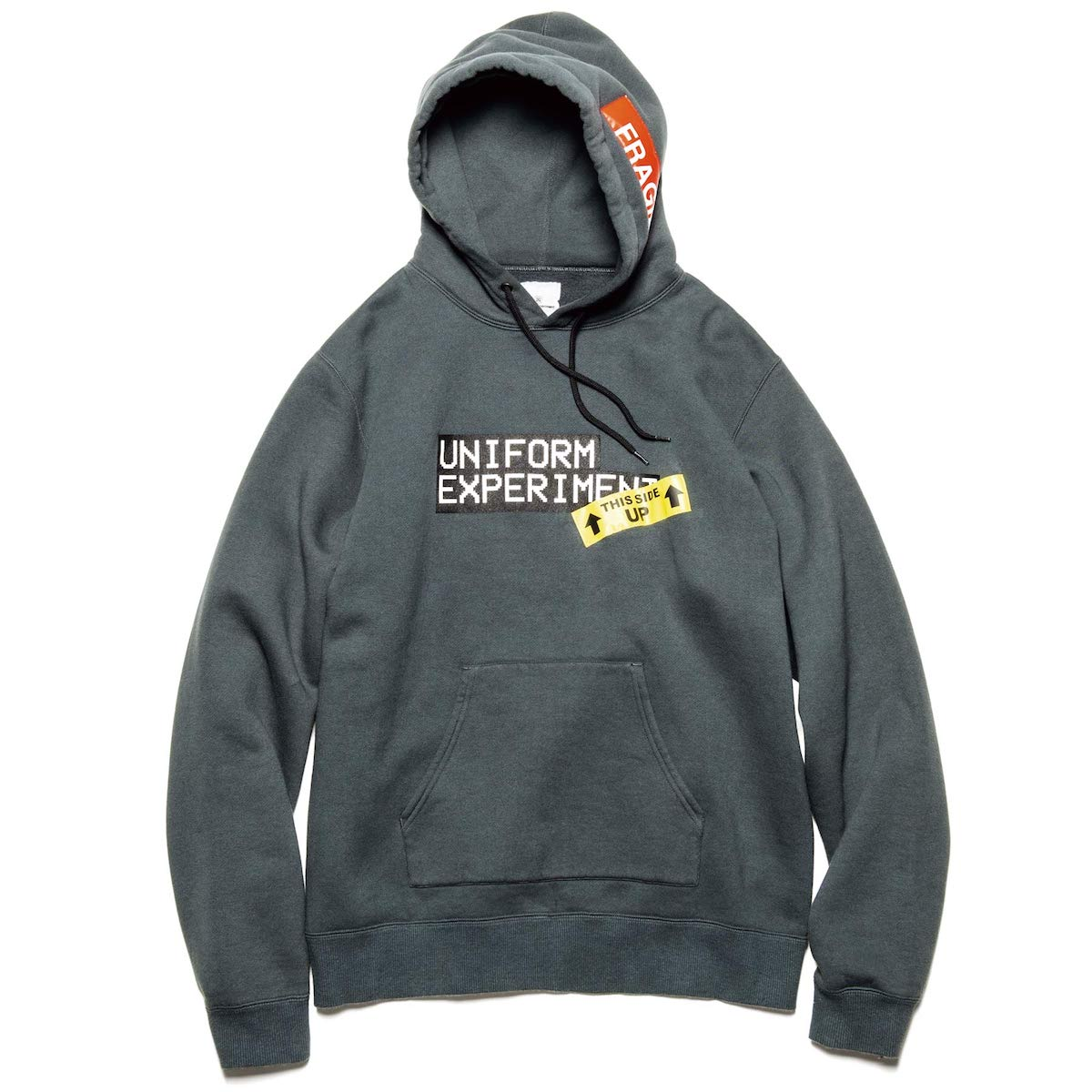 uniform experiment / BAGGAGE TAG HOODIE (Gray)正面