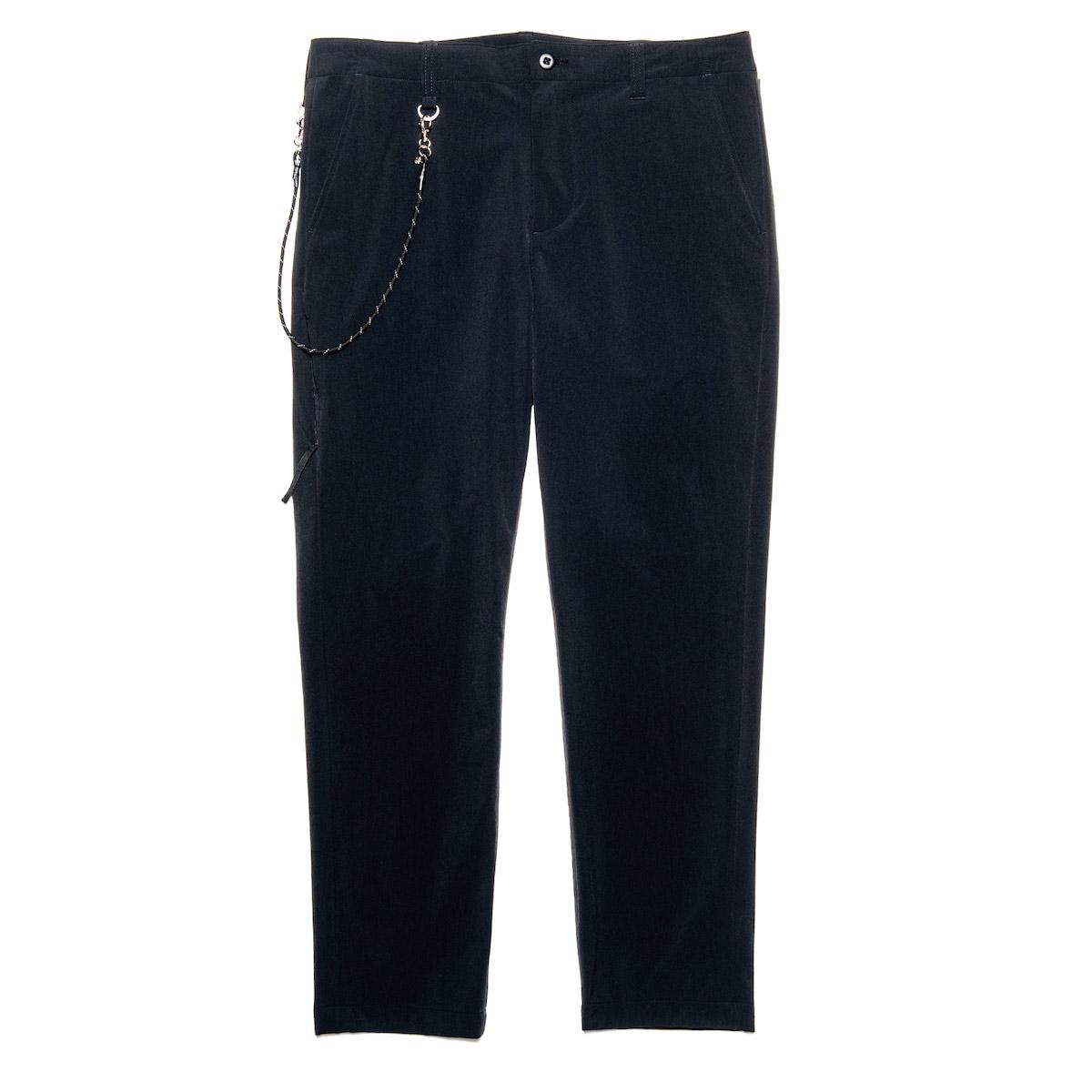 uniform experiment / STRETCH POPLIN SIDE POCKET TAPERED PANTS (Black)