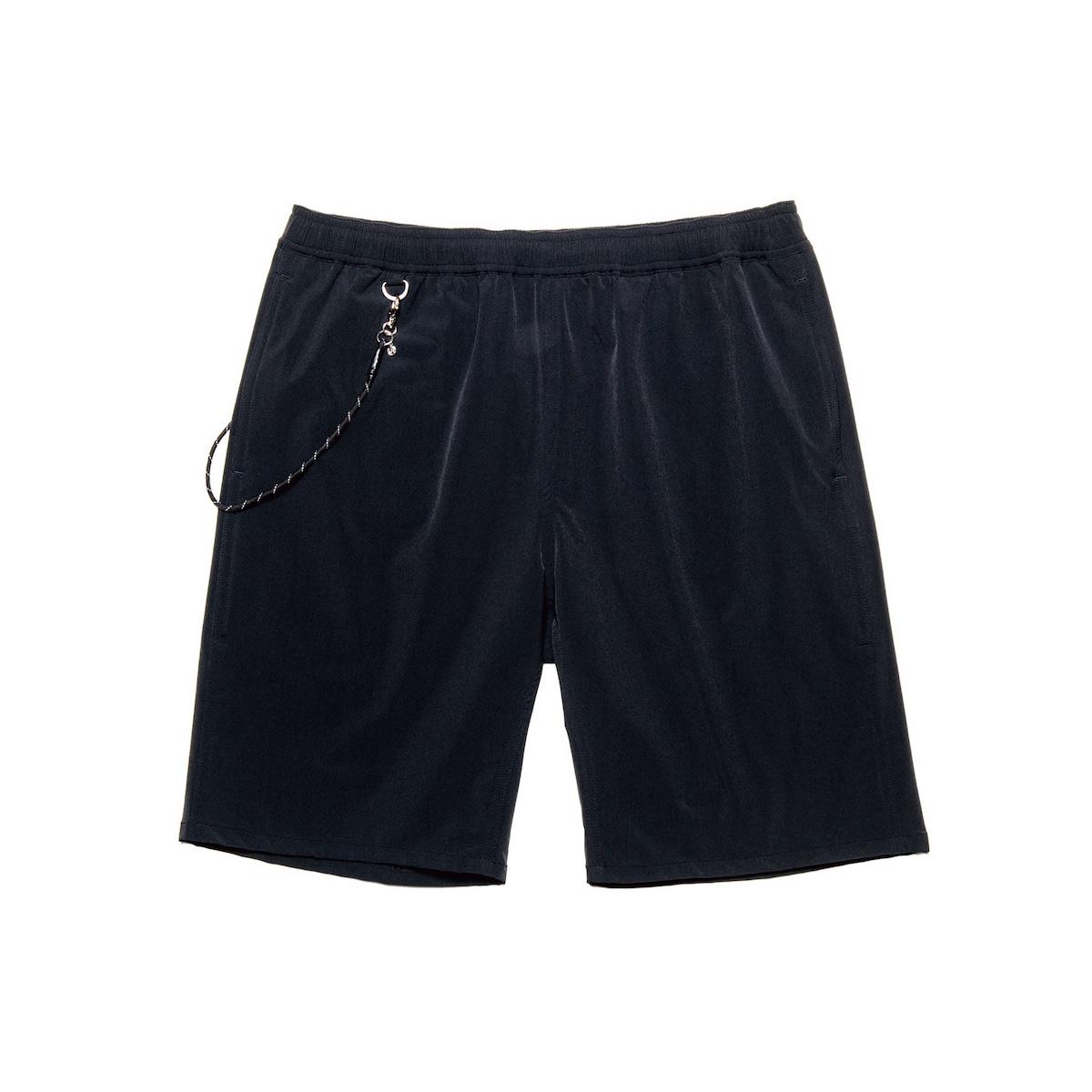 uniform experiment / STRETCH POPLIN EASY SHORTS (Black)正面
