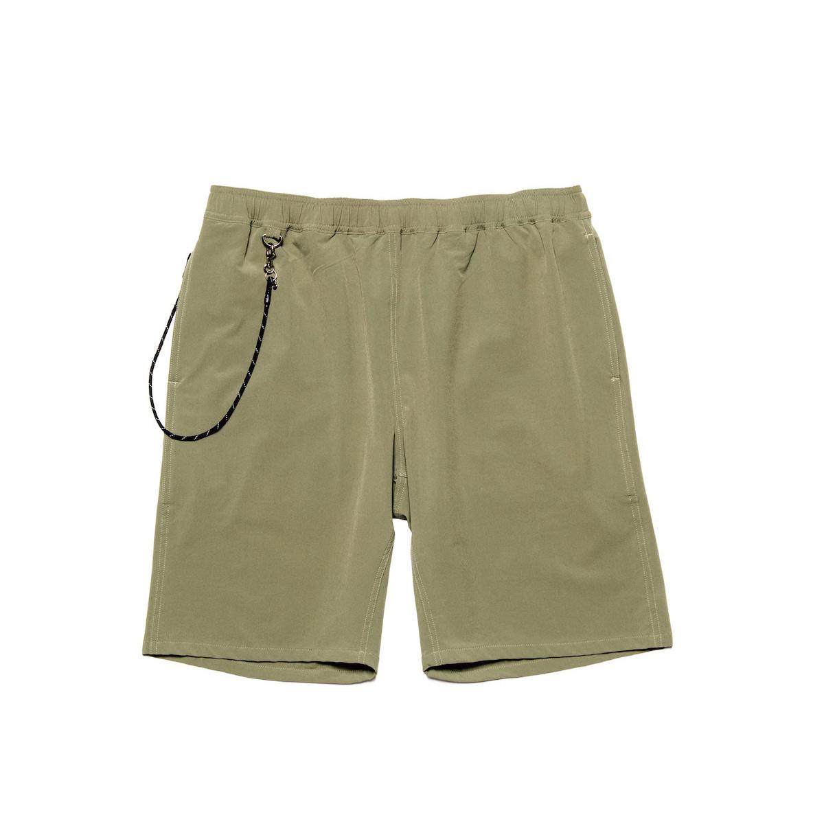 uniform experiment / STRETCH POPLIN EASY SHORTS (Khaki)正面
