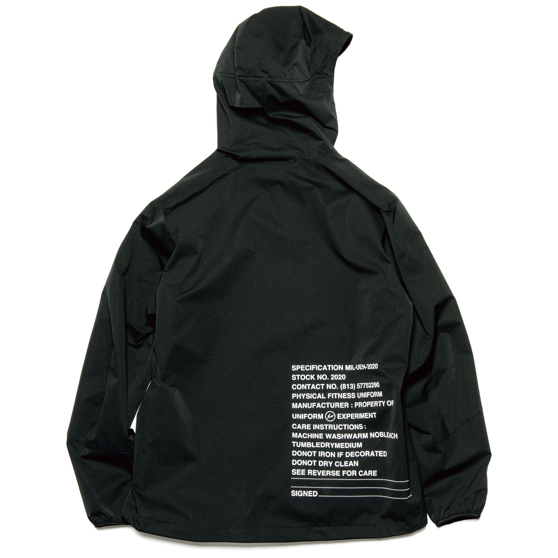 uniform experiment / MIL ZIP HOODED BLOUSON (Black)
