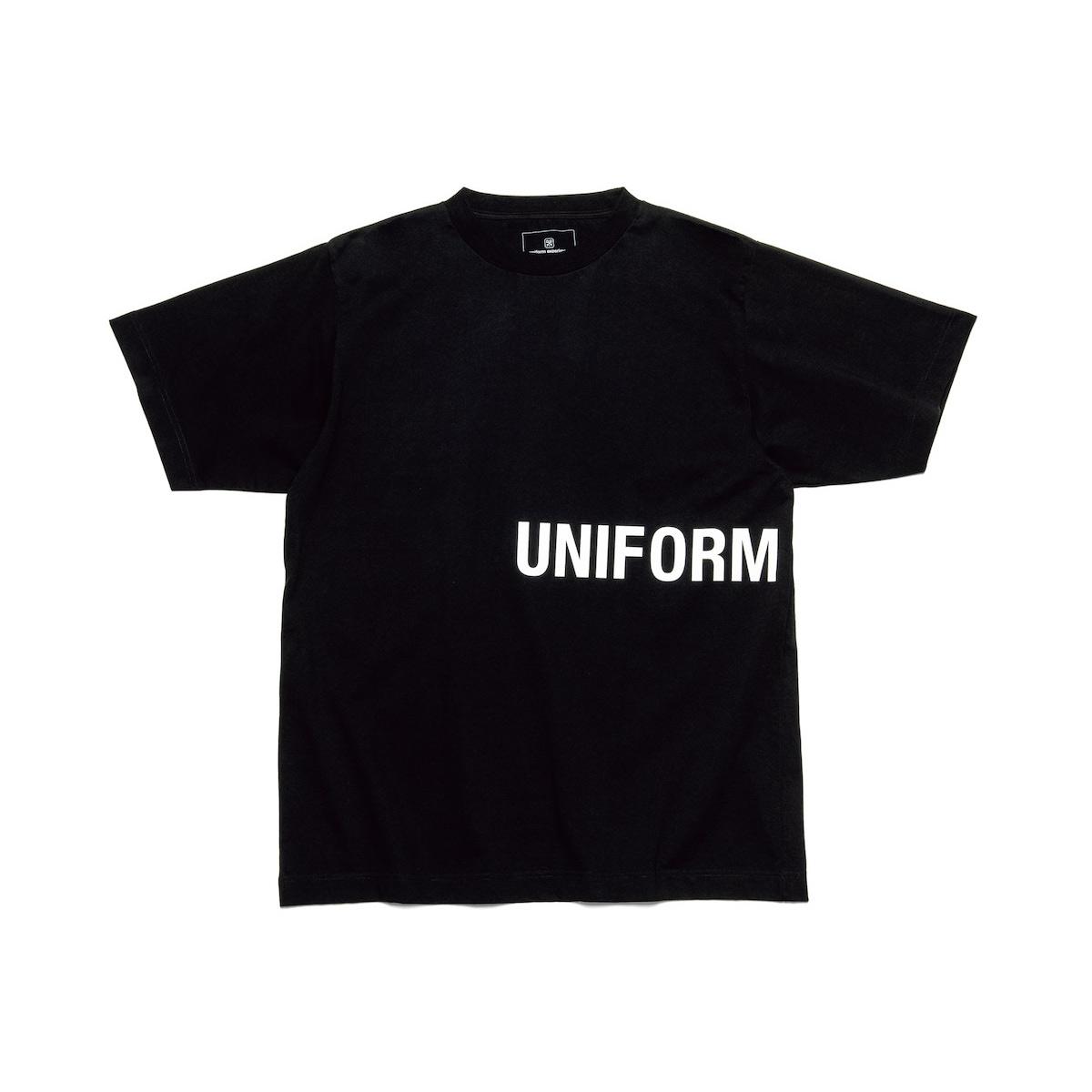 uniform experiment / AUTHENTIC WIDE TEE (Black)