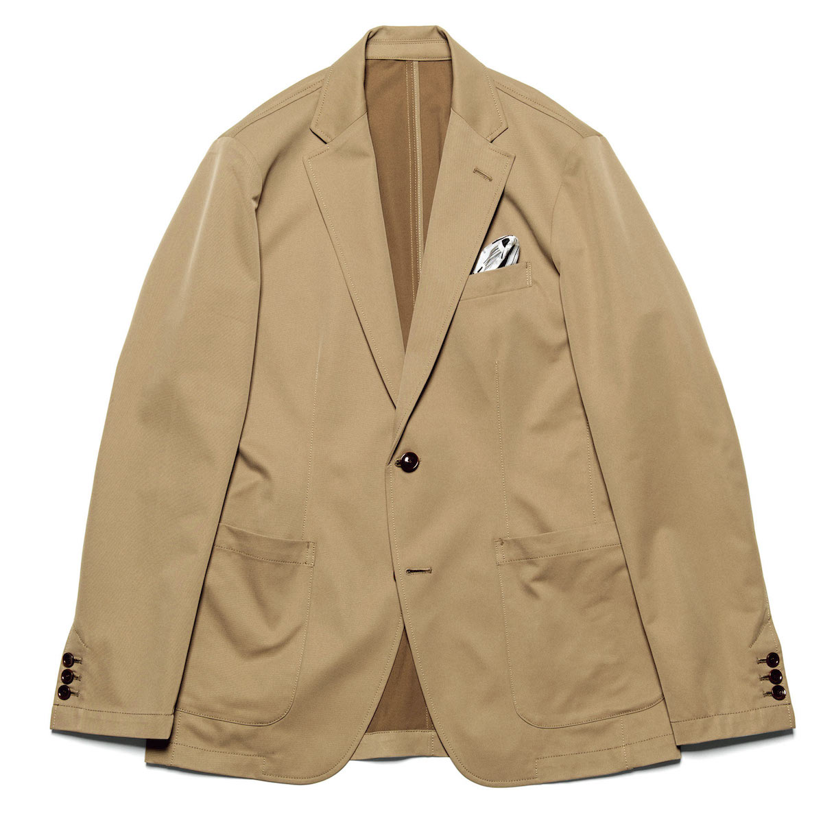 uniform experiment / SOLOTEX DRY STRETCH TWILL 2BUTTON JACKET (Beige)