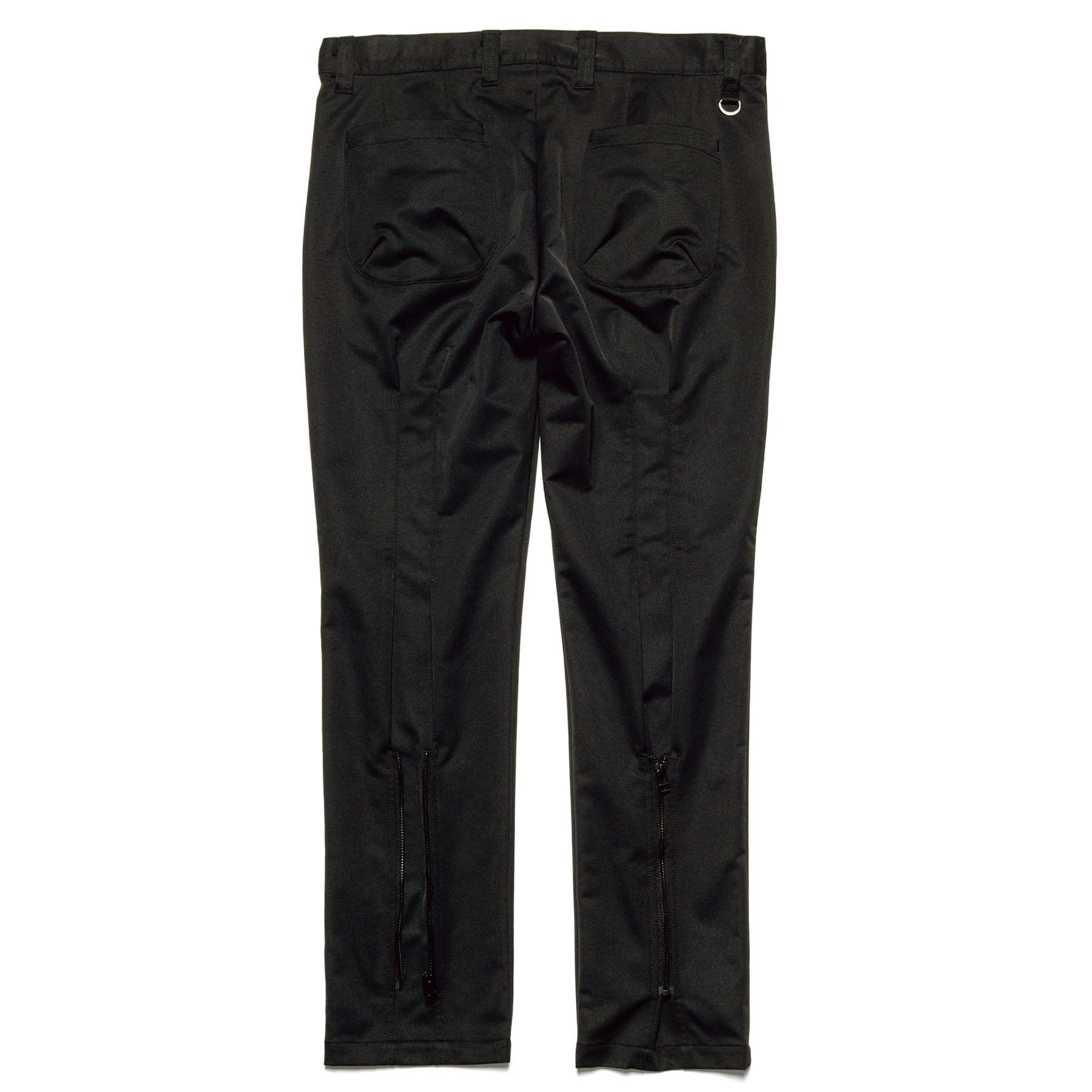 uniform experiment / SOLOTEX DRY STRETCH TWILL BACK ZIP PANTS (Black)
