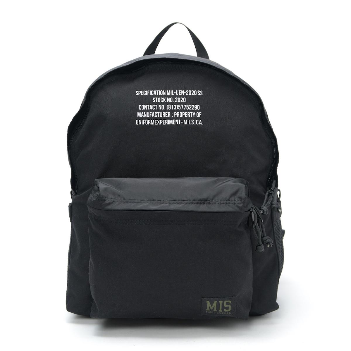 uniform experiment / MIS DAYPACK (Black)正面