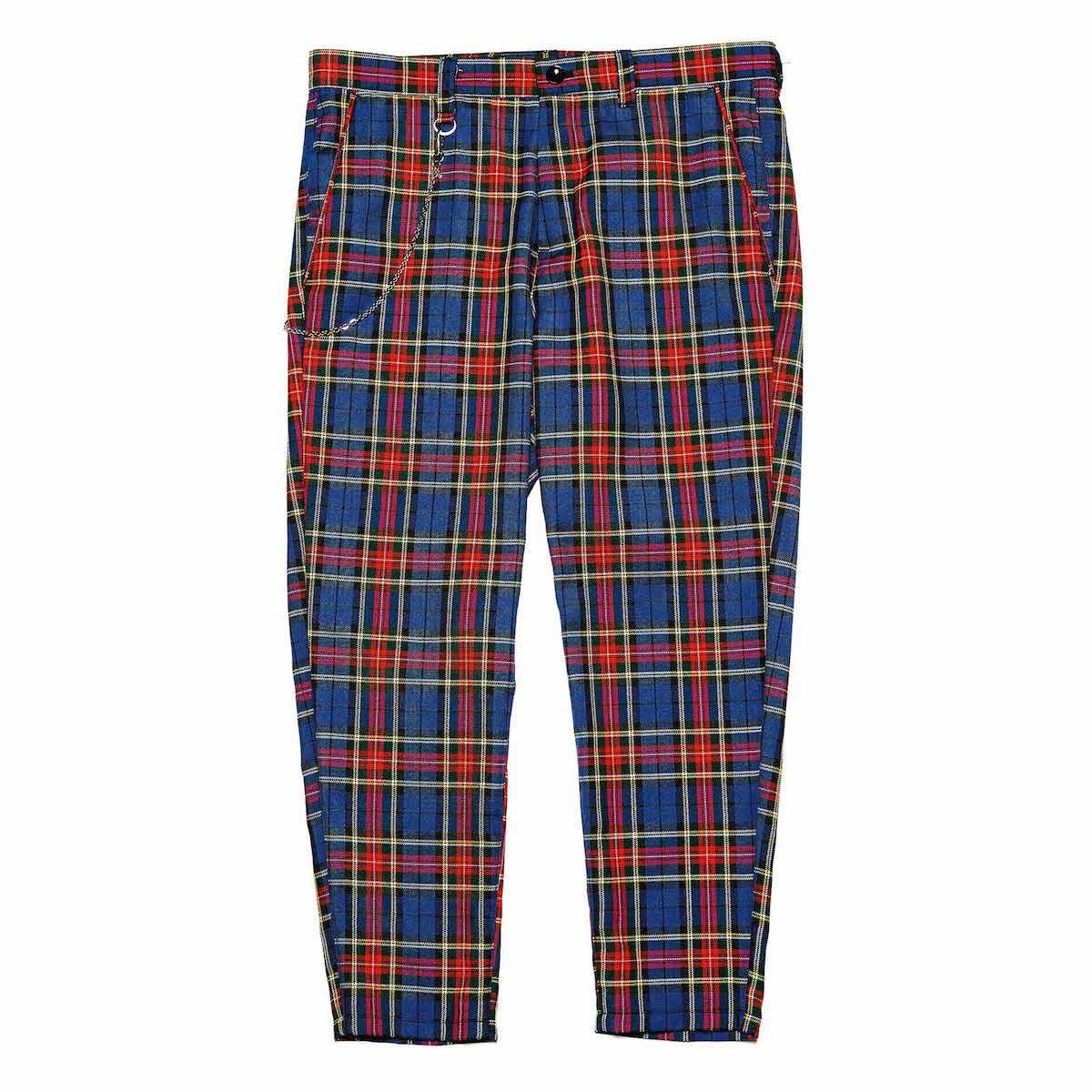 uniform experiment / CARROT FIT CROPPED PANTS (Blue)