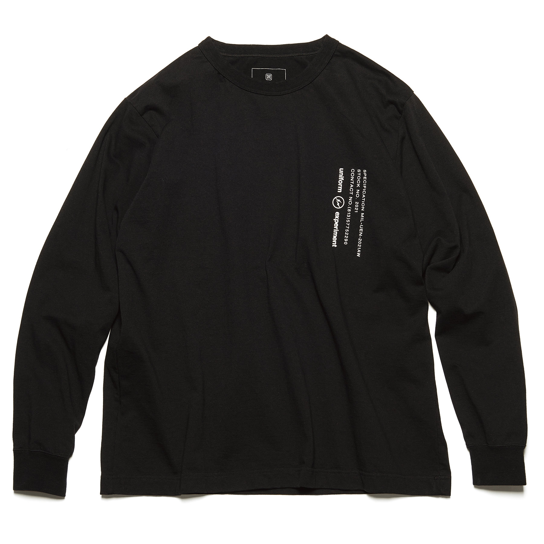 uniform experiment / L/S WIDE MIL TEE (Black)