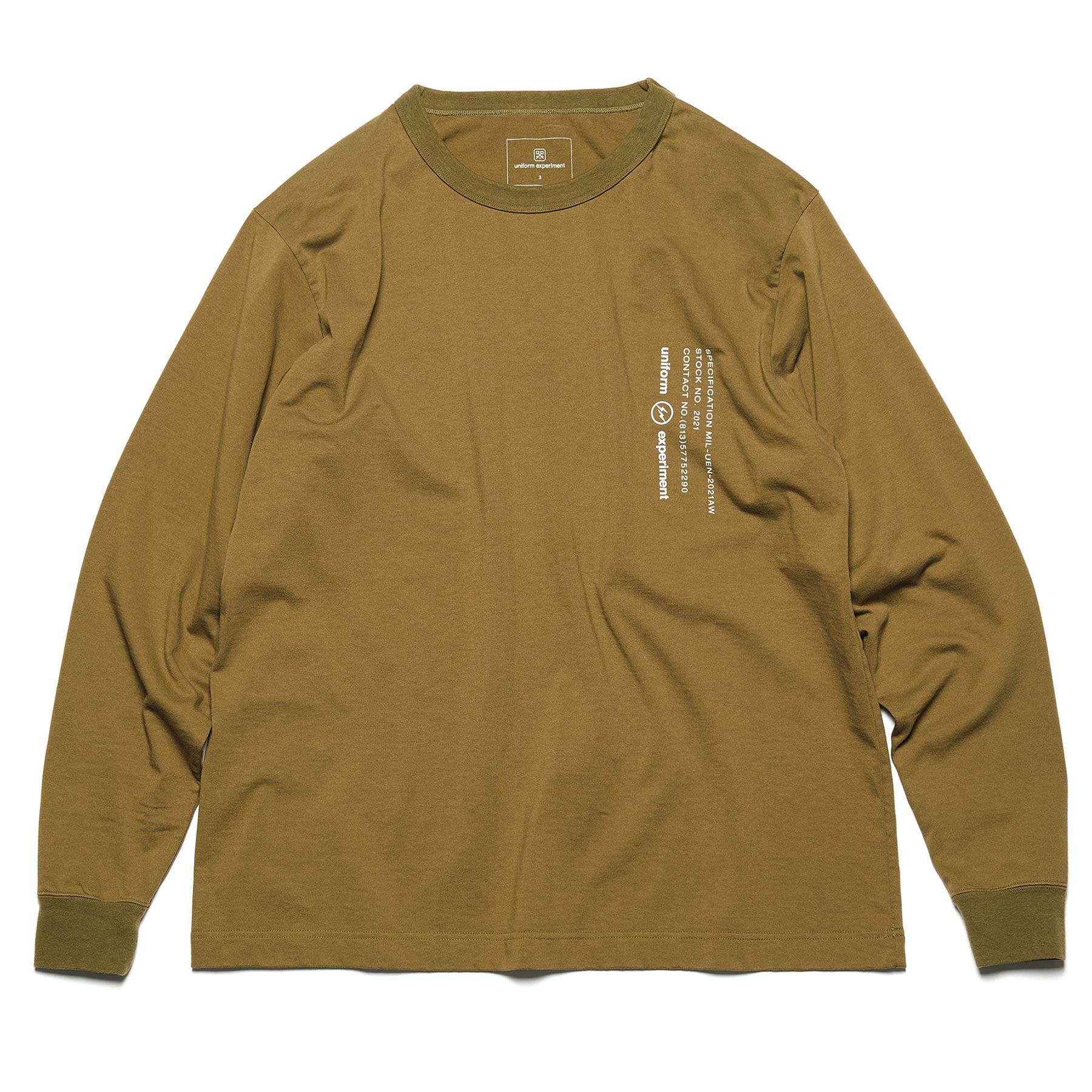 uniform experiment / L/S WIDE MIL TEE (Khaki)