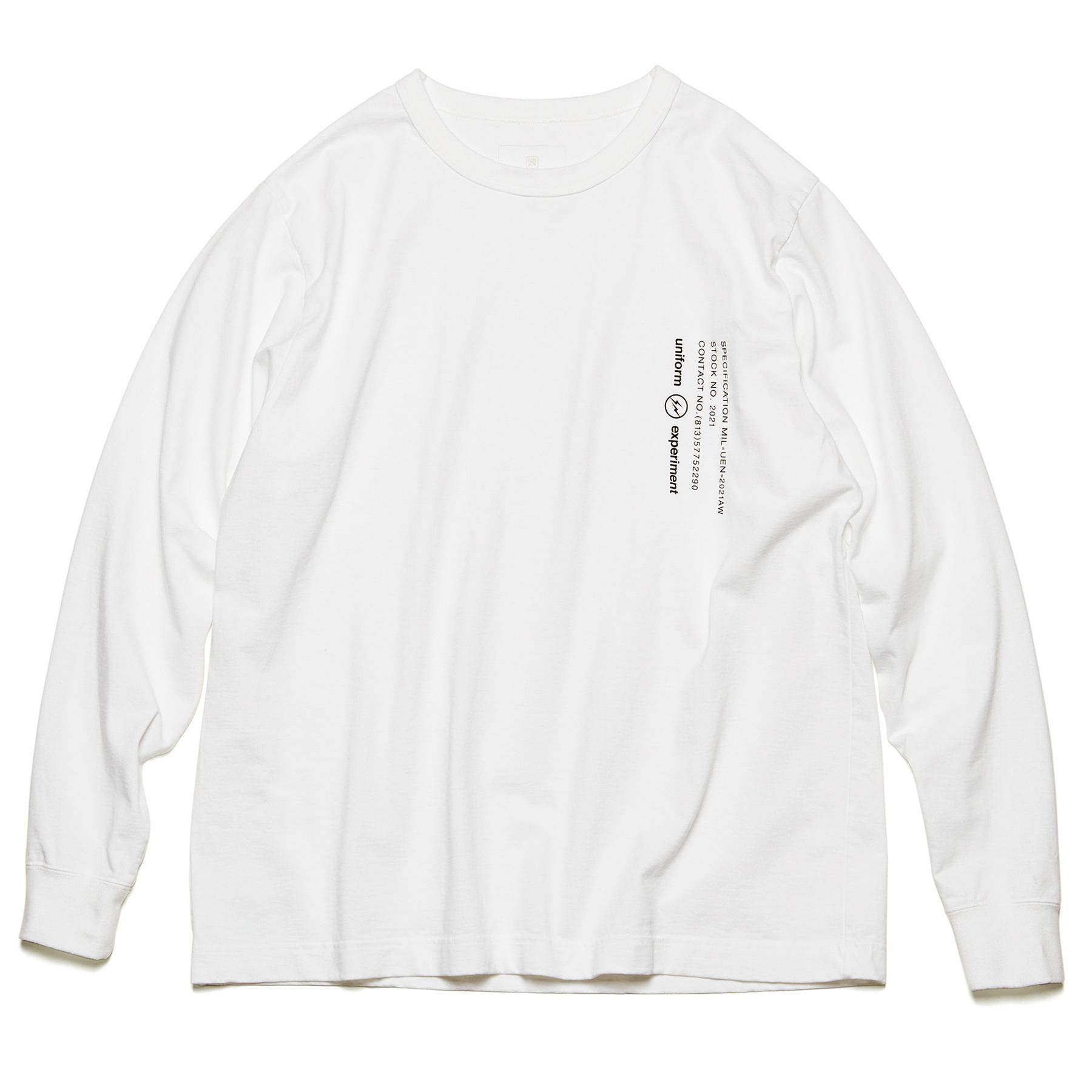 uniform experiment / L/S WIDE MIL TEE (White)