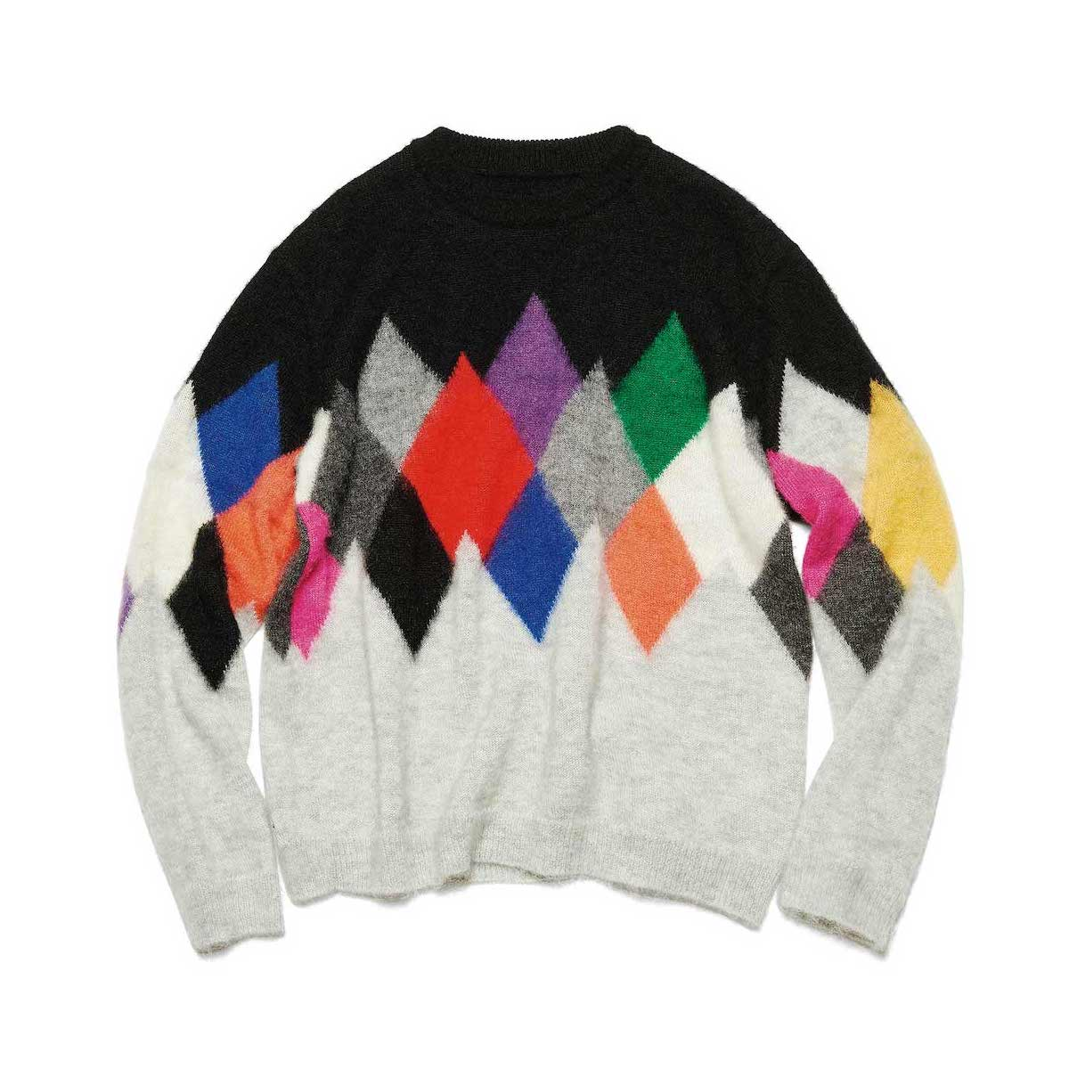 uniform experiment / ARGYLE MOHAIR CREWNECK KNIT (MULTI)