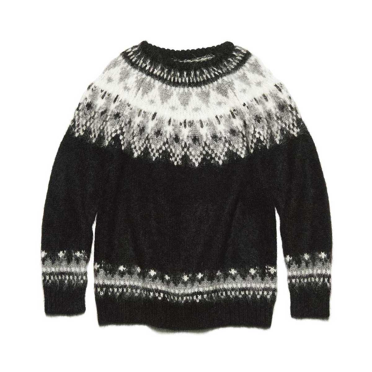 uniform experiment / NORDIC MOHAIR CREWNECK KNIT (Black)