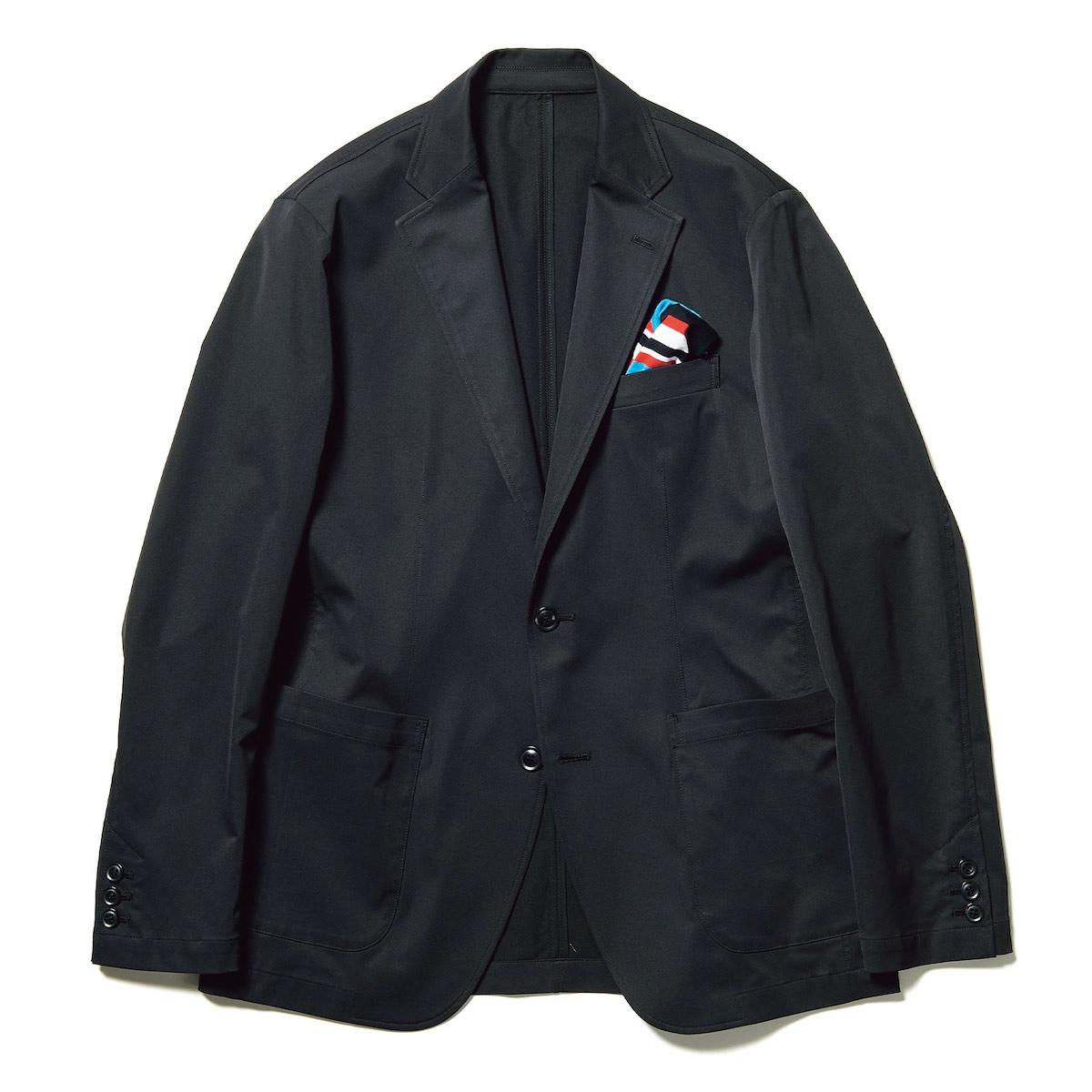 uniform experiment / SOLOTEX STRETCH TWILL 2BUTTON JACKET (Black)