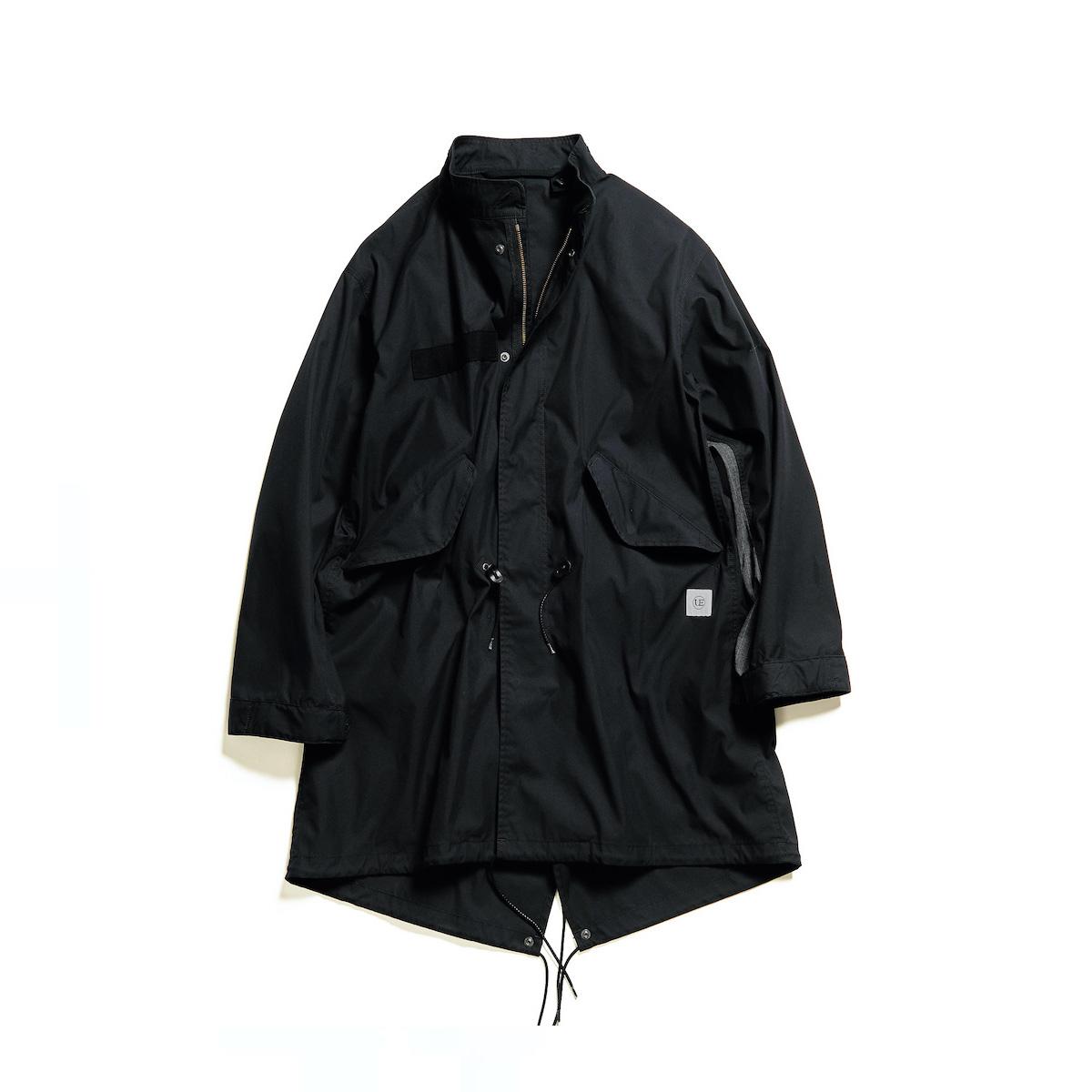 uniform experiment / SLEEVE PANELED MODS COAT (Black)