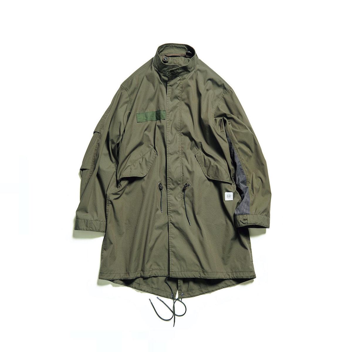uniform experiment / SLEEVE PANELED MODS COAT (Khaki)