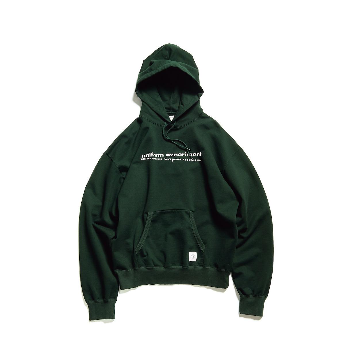 uniform experiment / SLASH GRAPHIC SWEAT HOODIE (Green)