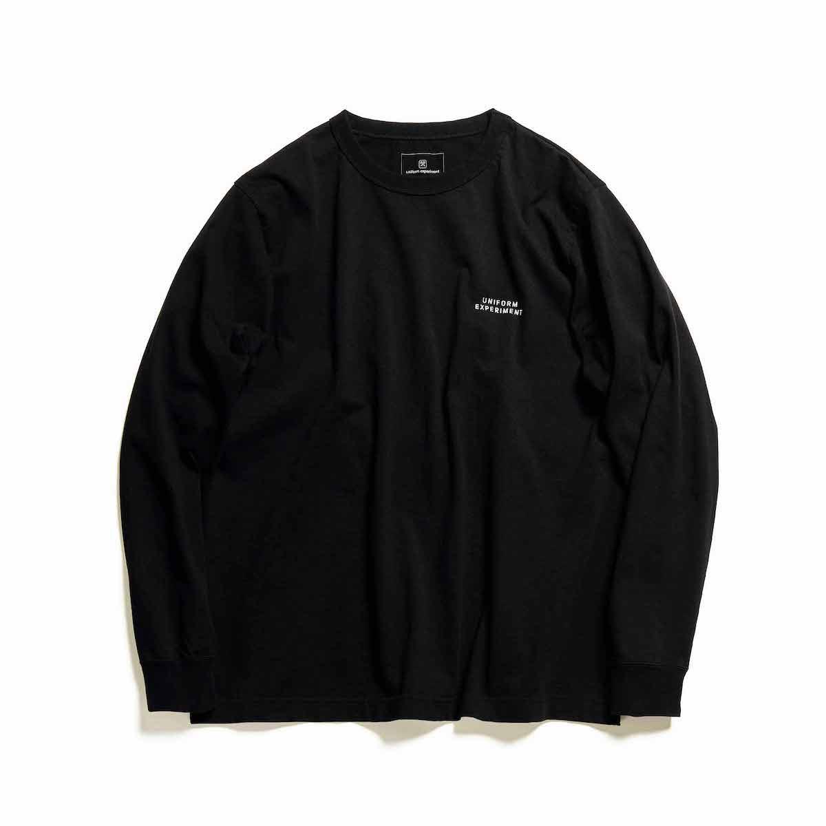 uniform experiment / STENCILE WIDE L/S TEE (Black)